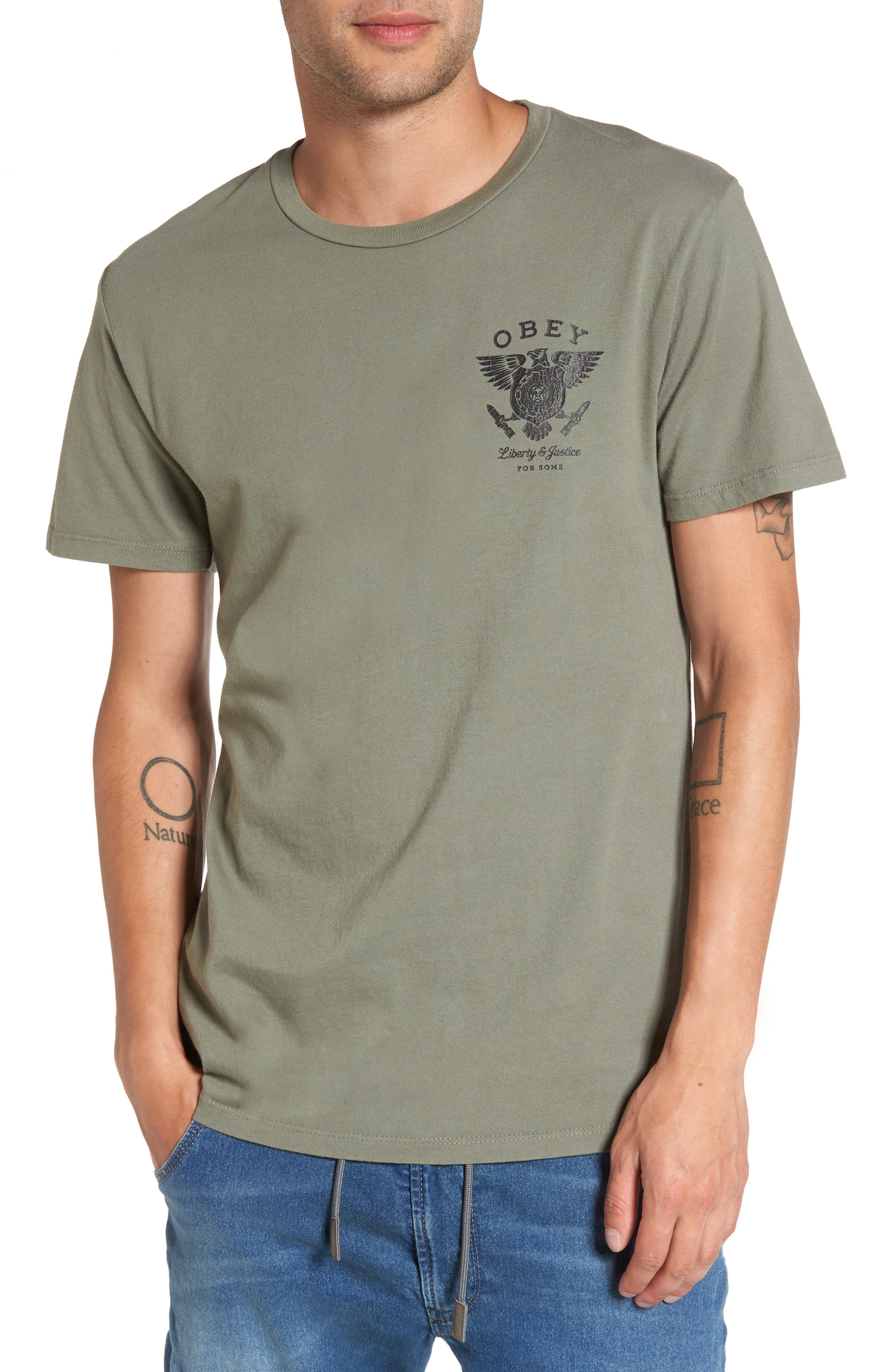 Obey Liberty & Justice Graphic T-Shirt