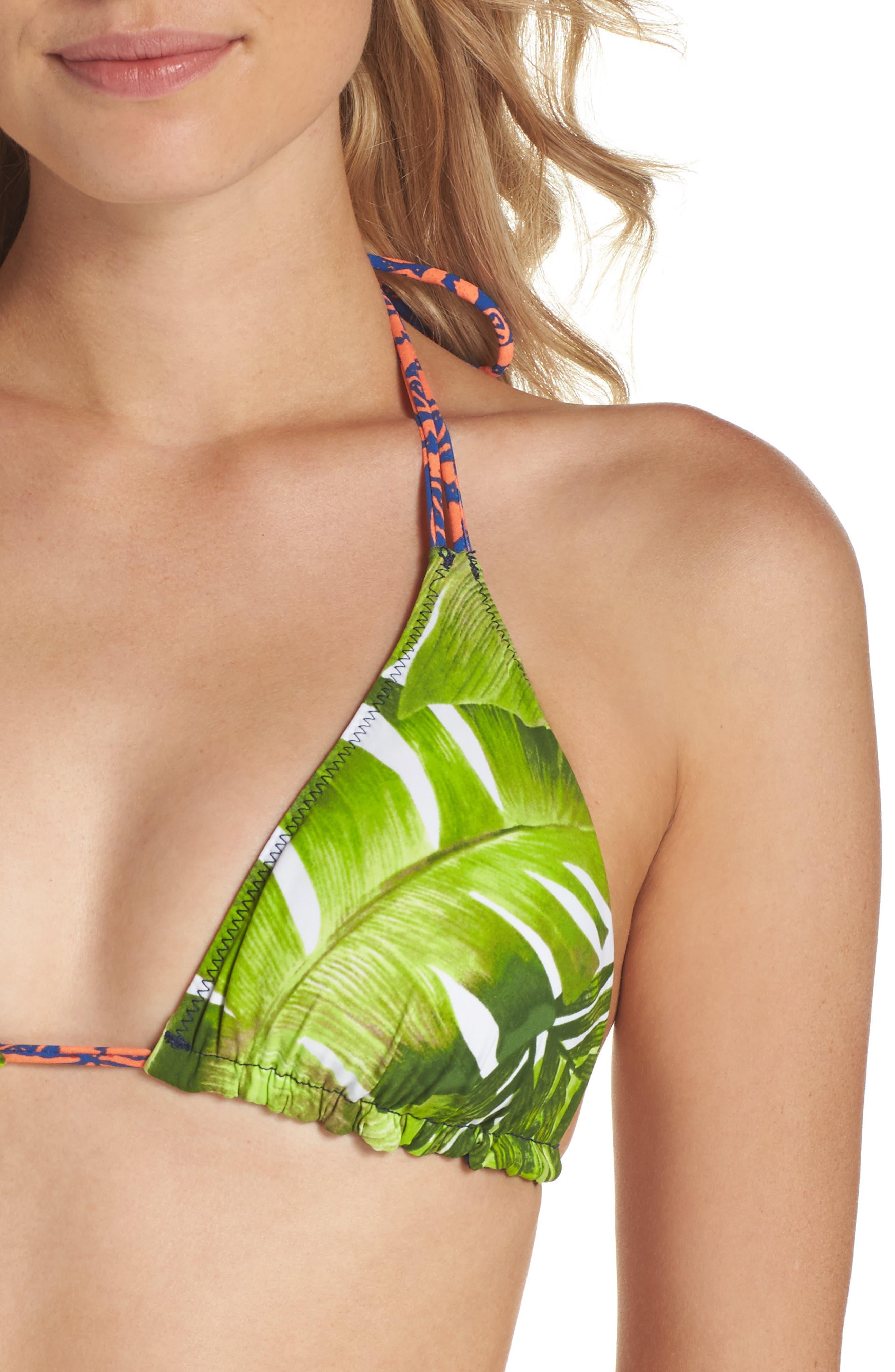 Alternate Image 4  - La Blanca Reversible Print Bikini Top