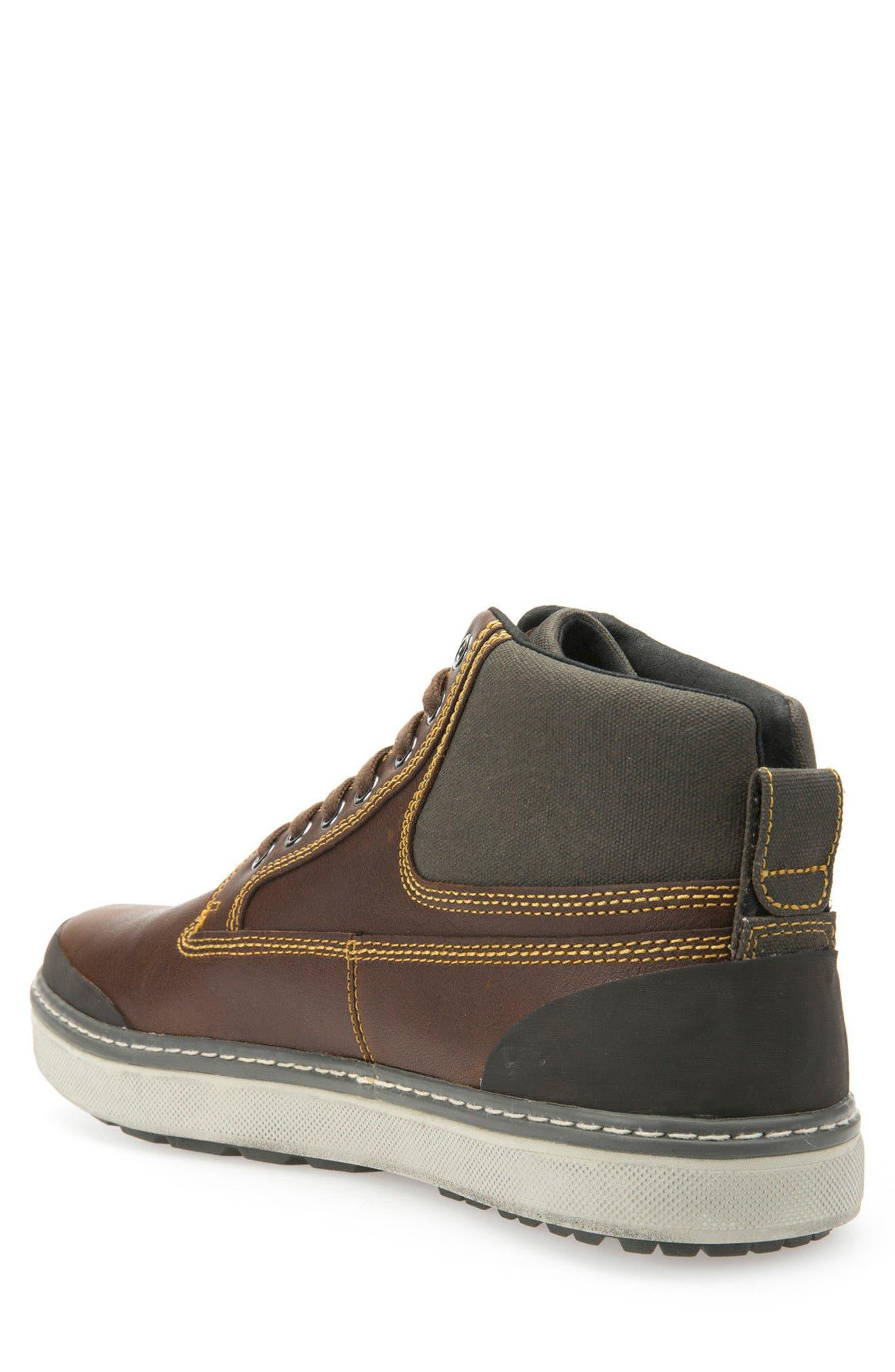 Mattias Amphibiox Waterproof Leather Sneaker,                             Alternate thumbnail 2, color,                             Brown/ Brown