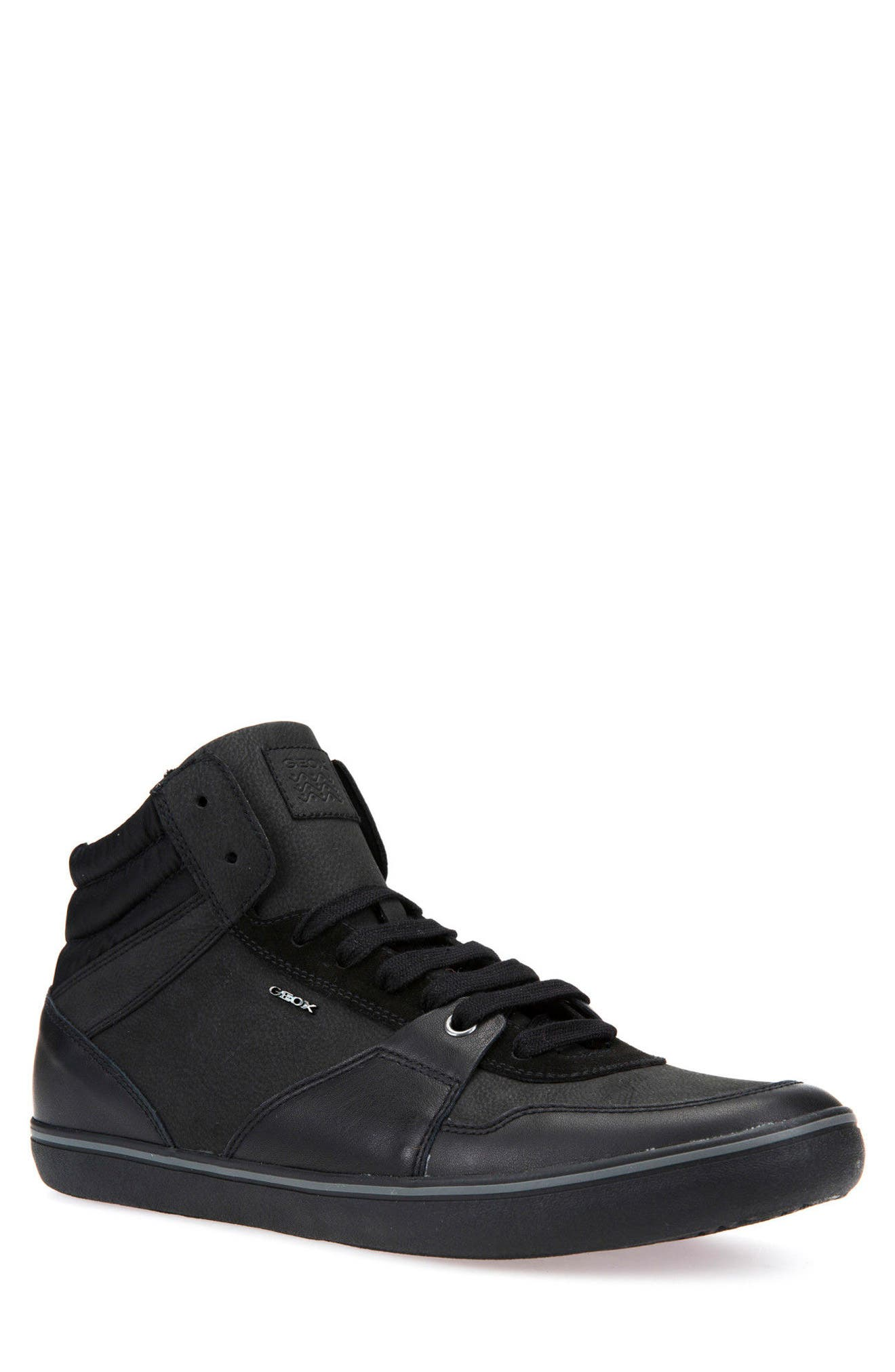 Box 31 High Top Sneaker,                             Main thumbnail 1, color,                             Black