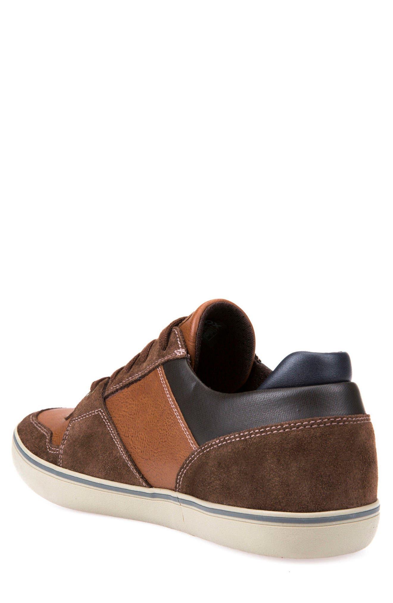 Box 27 Low-Top Sneaker,                             Alternate thumbnail 2, color,                             Ebony/ Brown Cotto