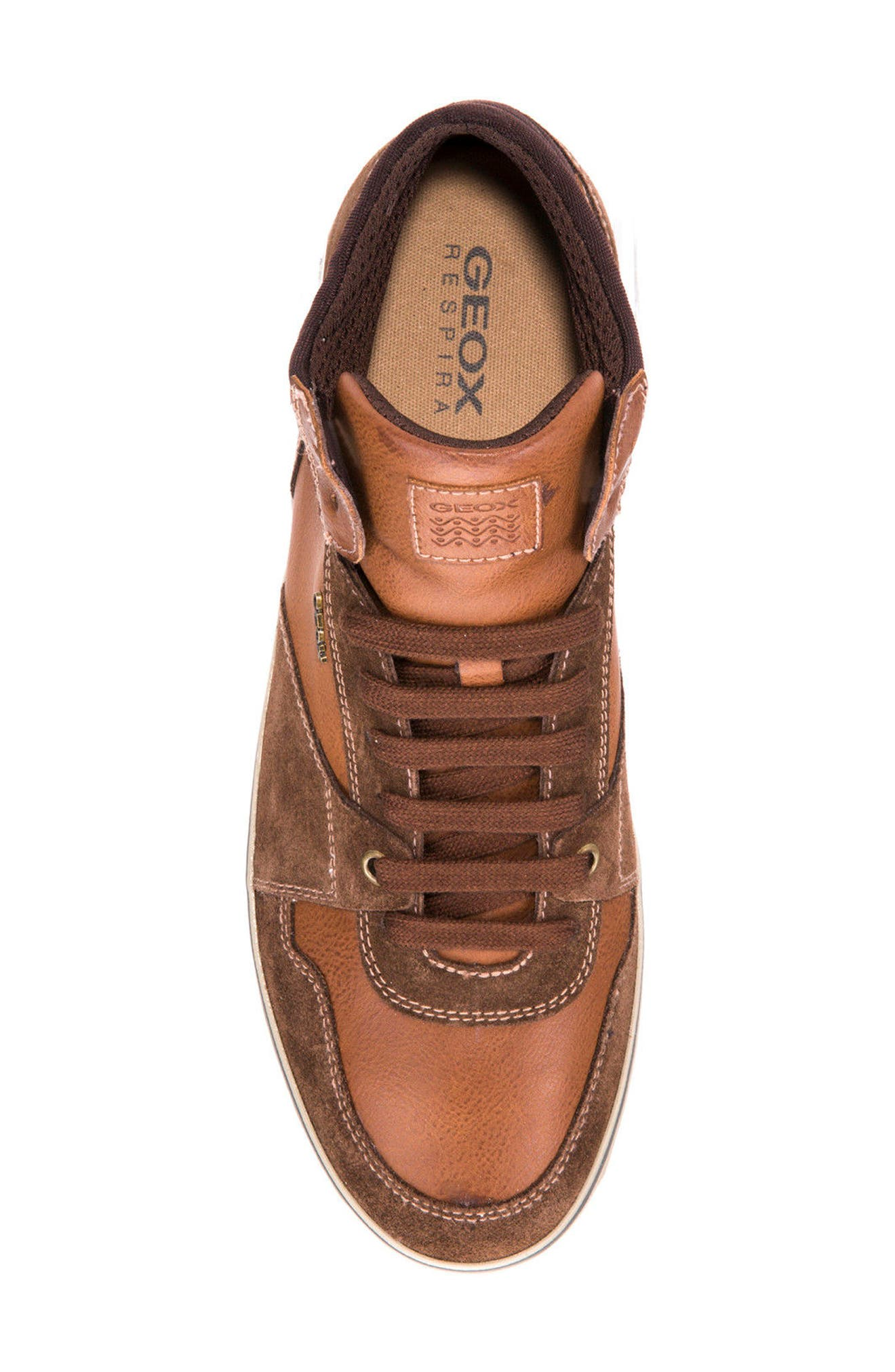 Box 30 High Top Sneaker,                             Alternate thumbnail 3, color,                             Ebony/ Brown Cotto