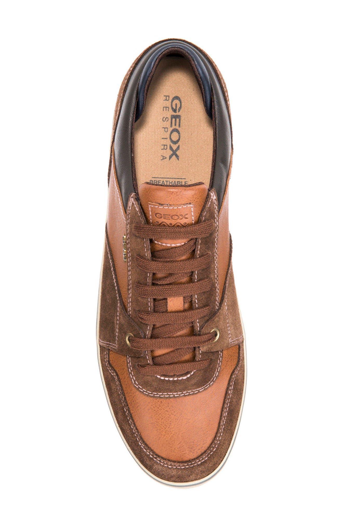Box 27 Low-Top Sneaker,                             Alternate thumbnail 5, color,                             Ebony/ Brown Cotto