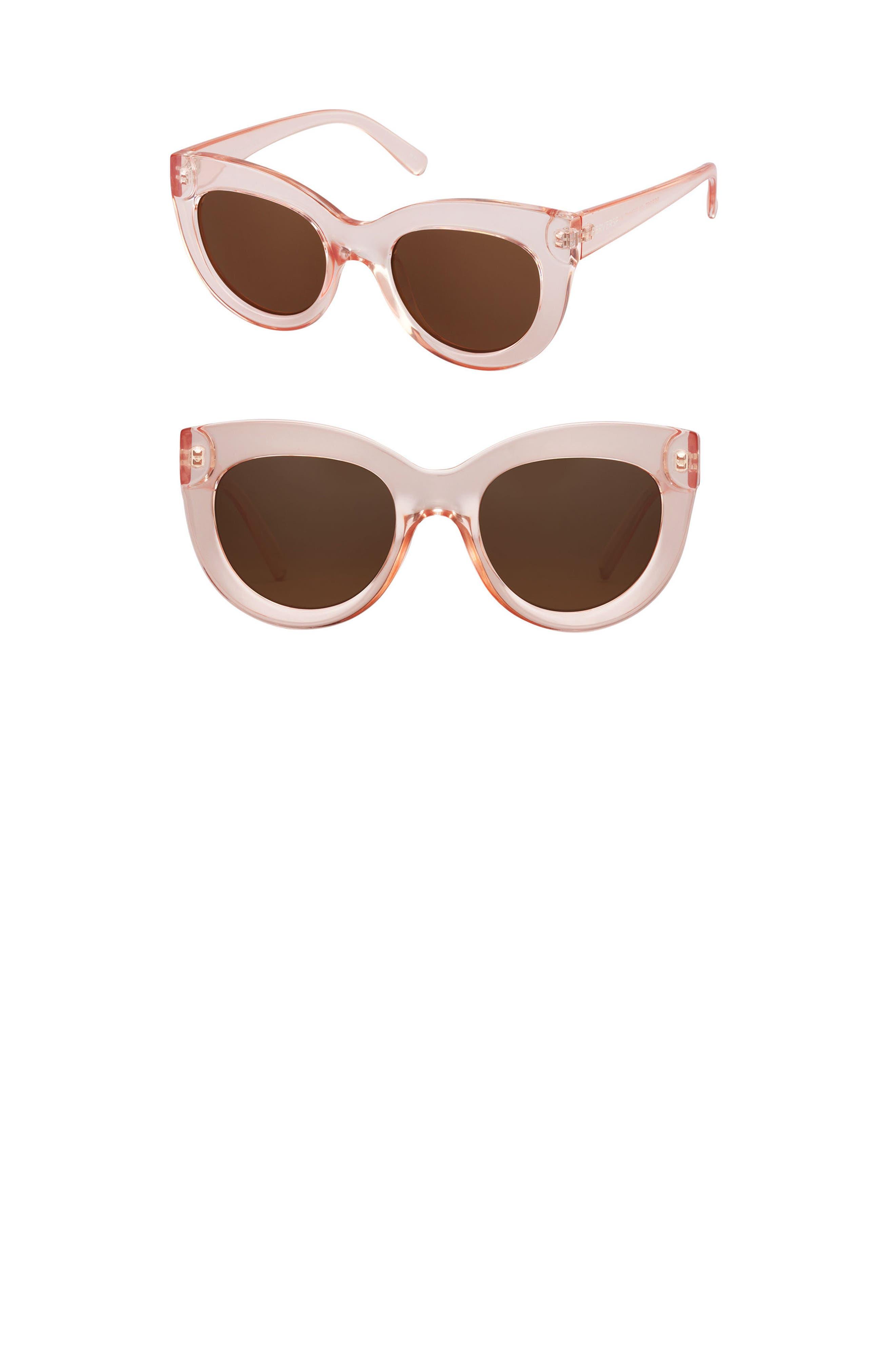 Repost Cat Eye Sunglasses,                             Main thumbnail 1, color,                             Pink/ Brown