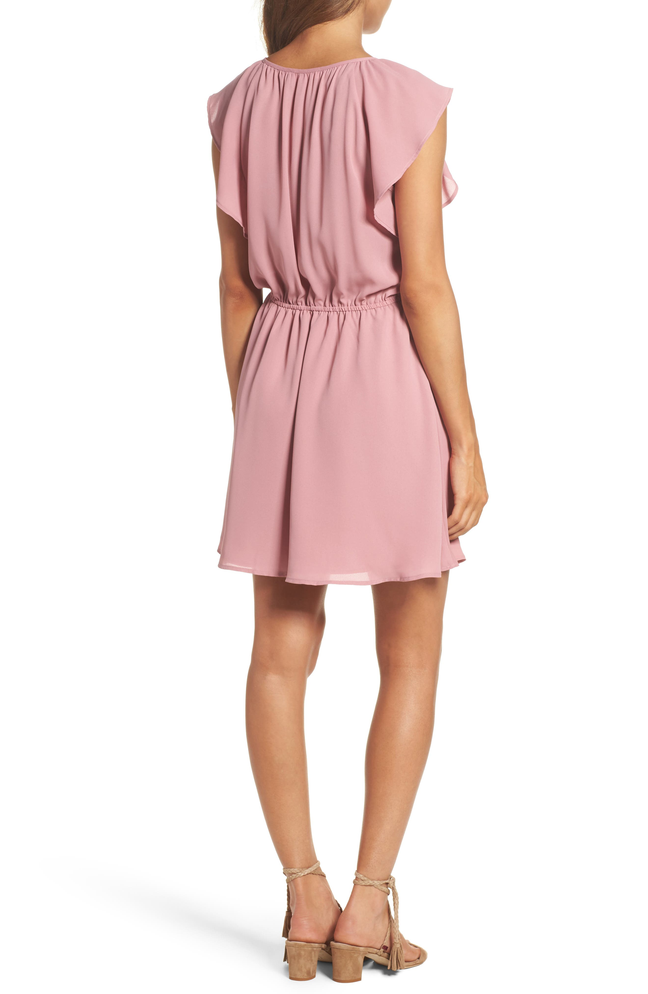 Adrienn Fit & Flare Dress,                             Alternate thumbnail 2, color,                             Dusty Rose