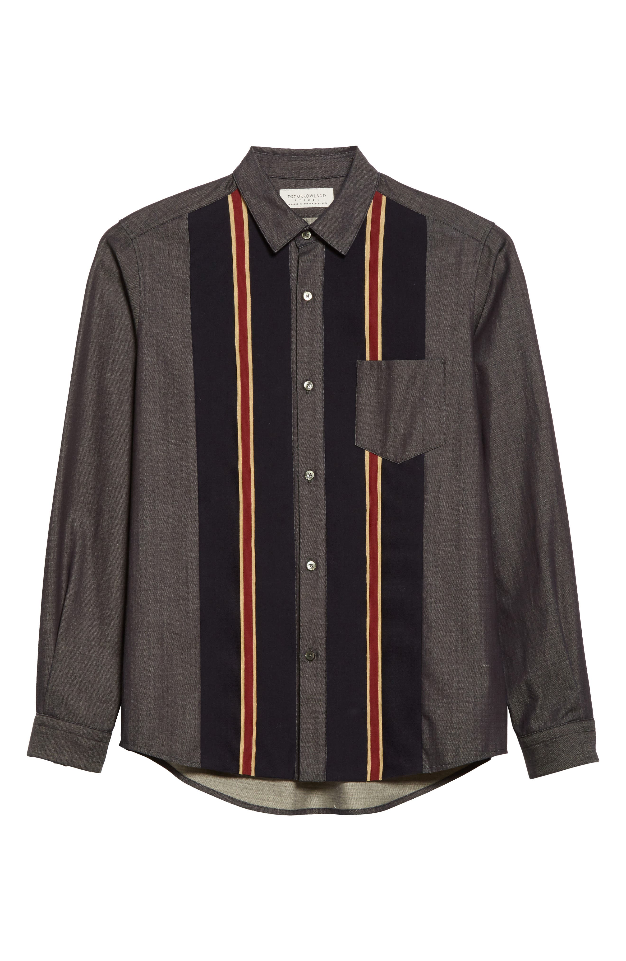Alternate Image 6  - Tomorrowland Tricot Stripe Sport Shirt