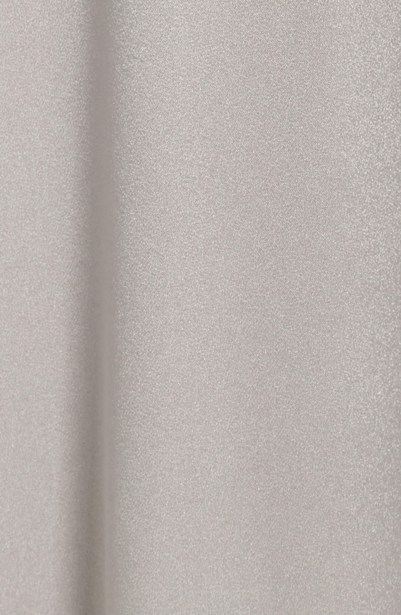 Alternate Image 5  - Halston Heritage V-Neck Draped Satin Gown