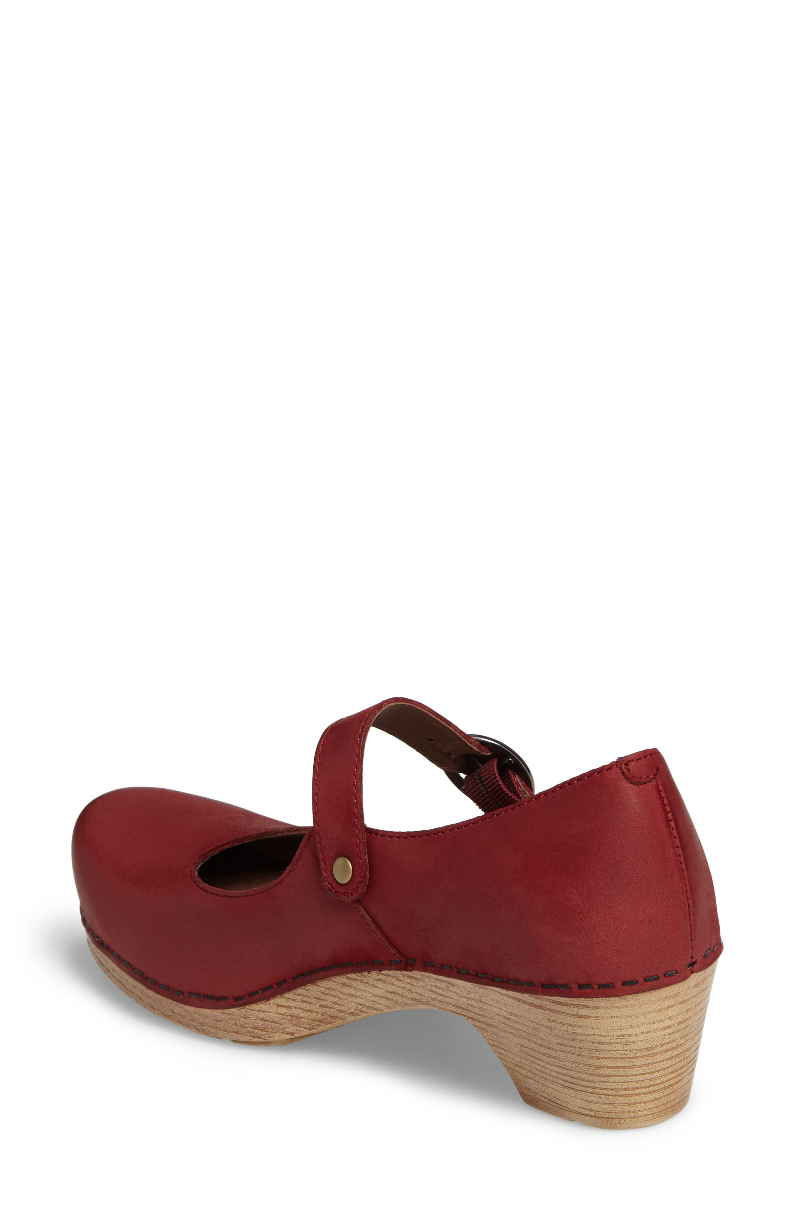 Missy Mary Jane Pump,                             Alternate thumbnail 2, color,                             Red Leather