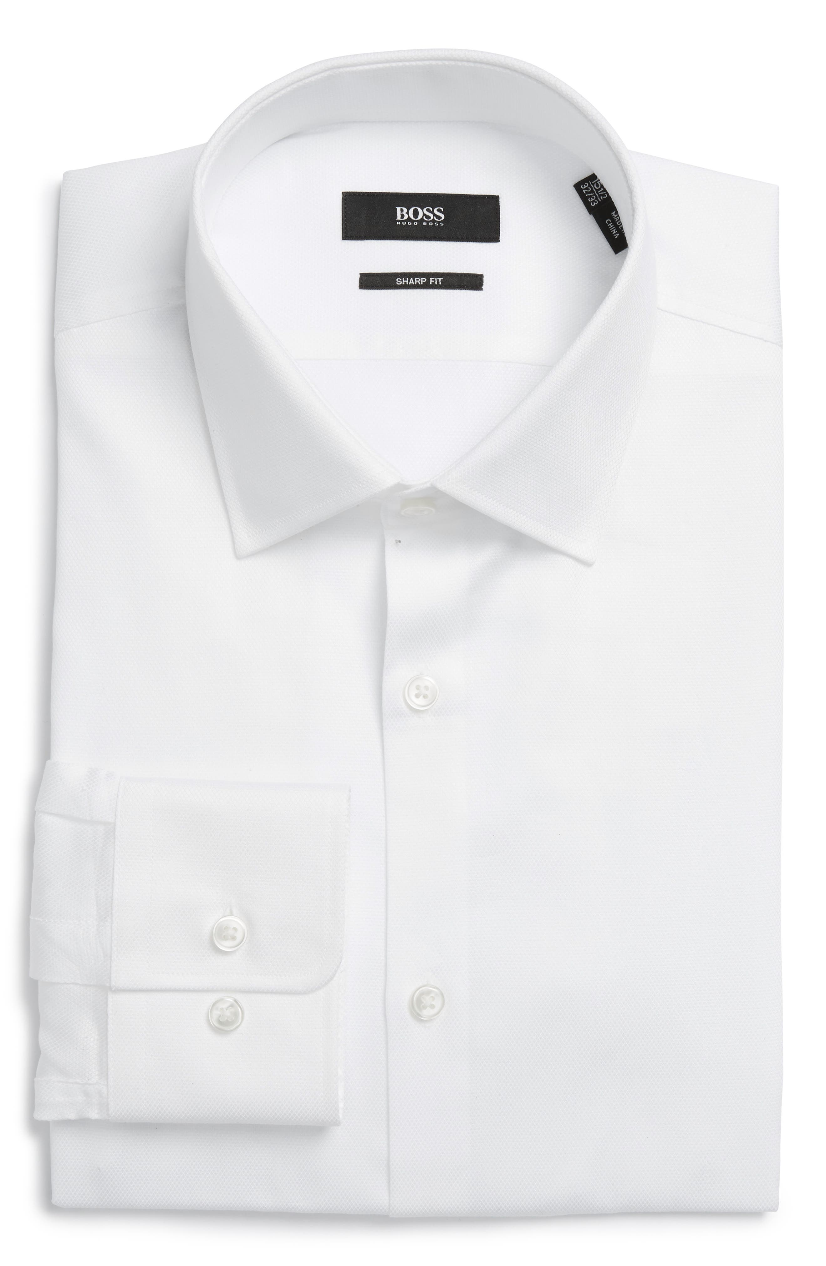 BOSS Marley US Sharp Fit Solid Dress Shirt