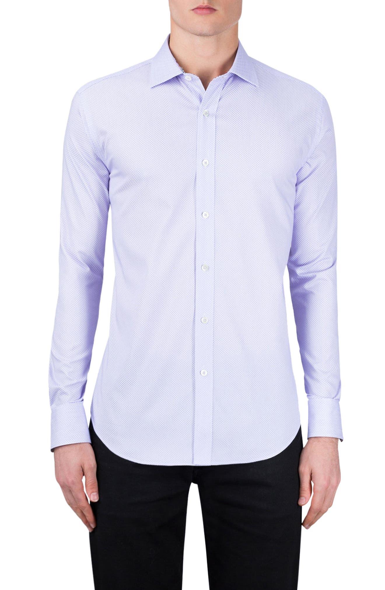Main Image - Bugatchi Classic Fit Diamond Print Sport Shirt