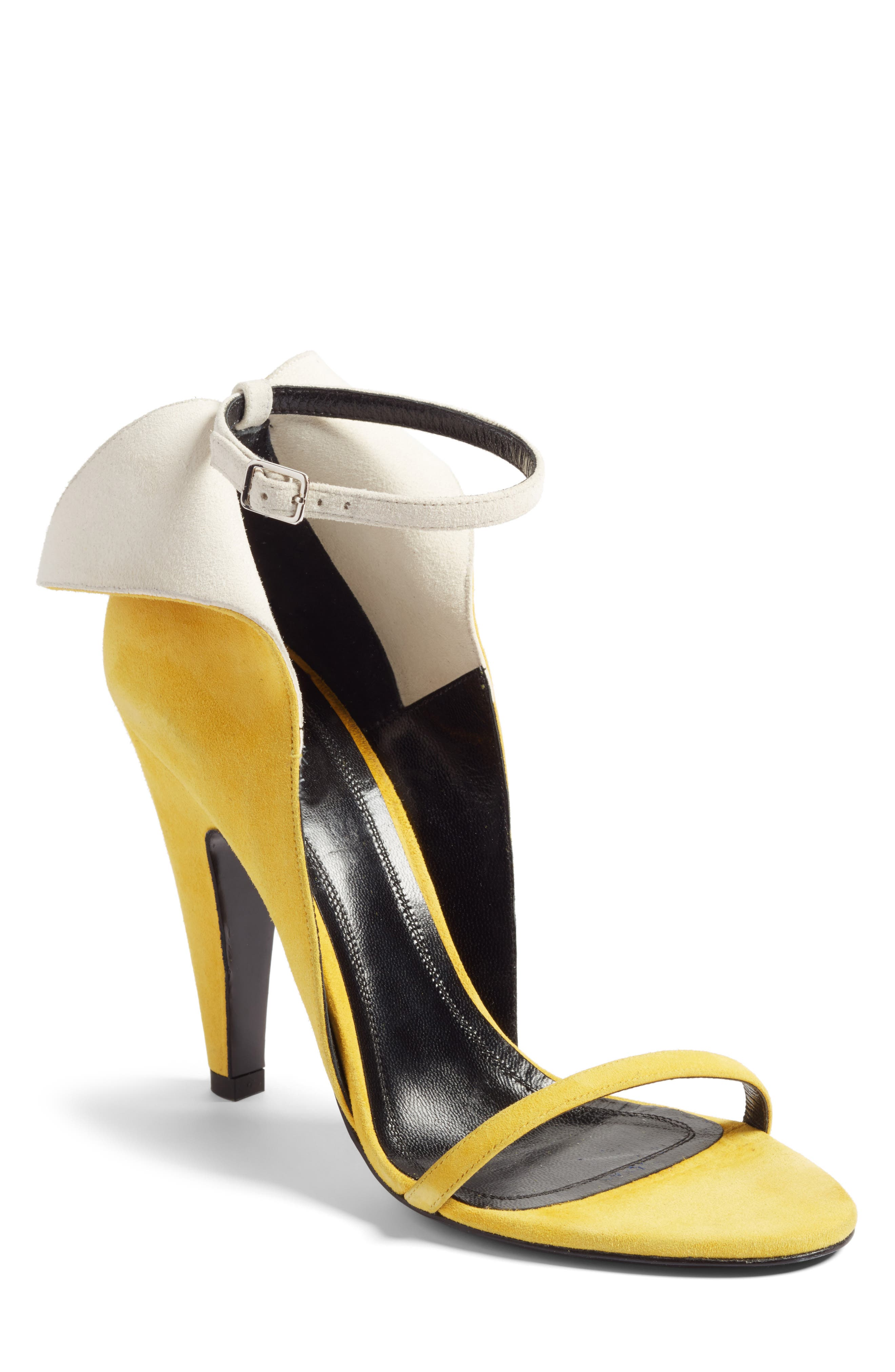 Cammy Sandal,                         Main,                         color, Sunflower/ White Suede