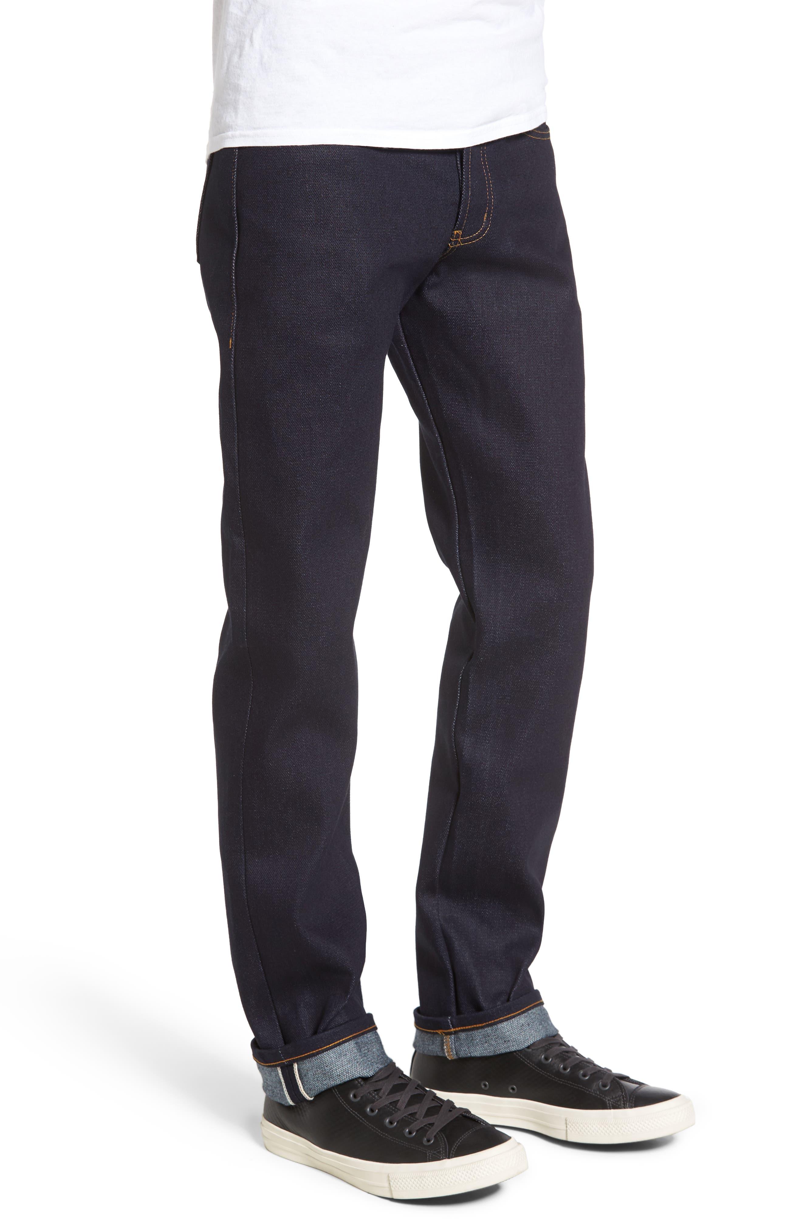 Alternate Image 3  - Naked & Famous Denim Weird Guy Slim Fit Jeans (Elephant 6)