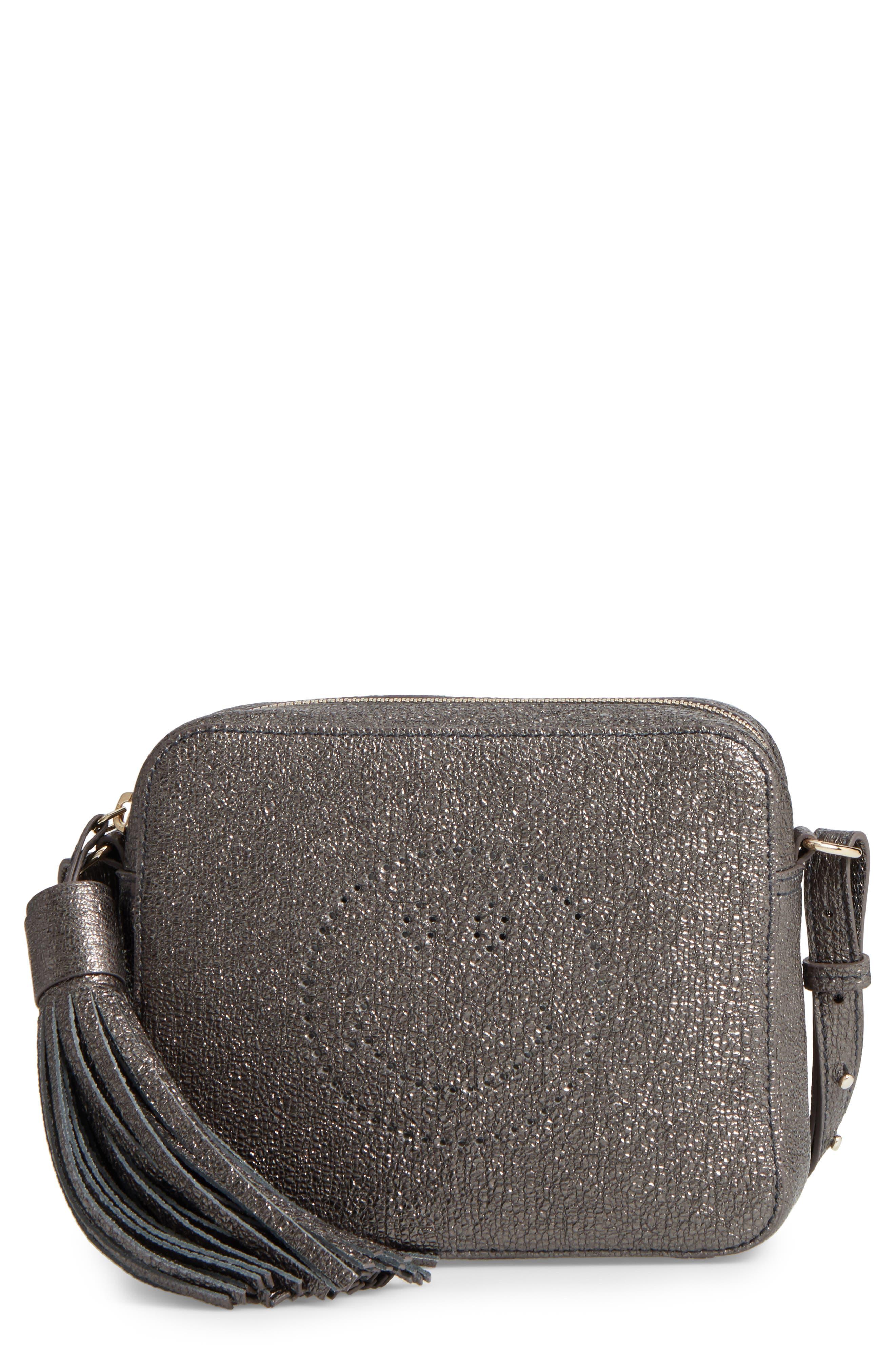 ANYA HINDMARCH Smiley Glitter Leather Crossbody Bag