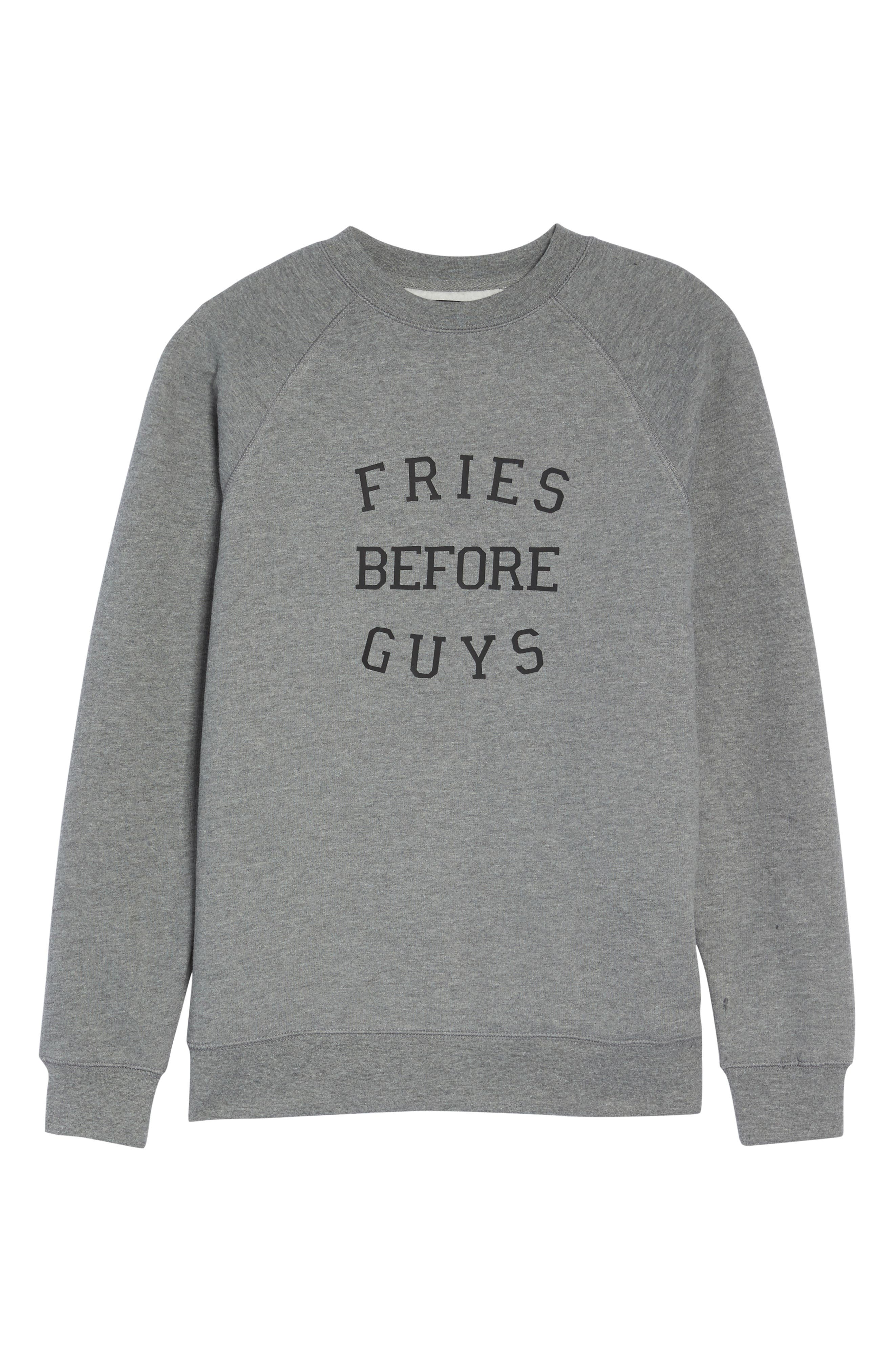 Fries Before Guys Sweatshirt,                             Alternate thumbnail 4, color,                             Grey