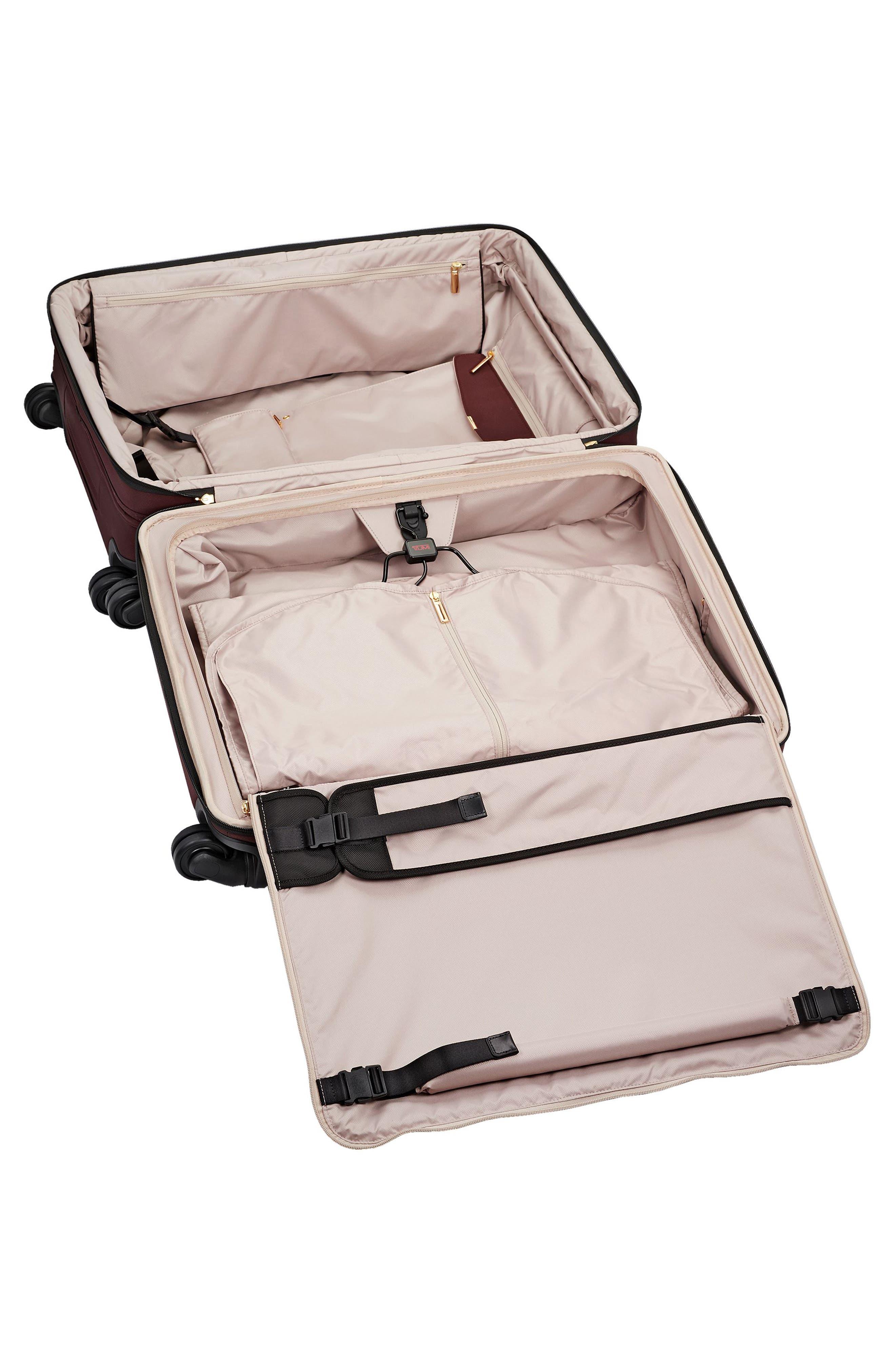 Jess Short Trip Expandable 26-Inch 4-Wheel Suitcase,                             Alternate thumbnail 5, color,                             Bordeaux