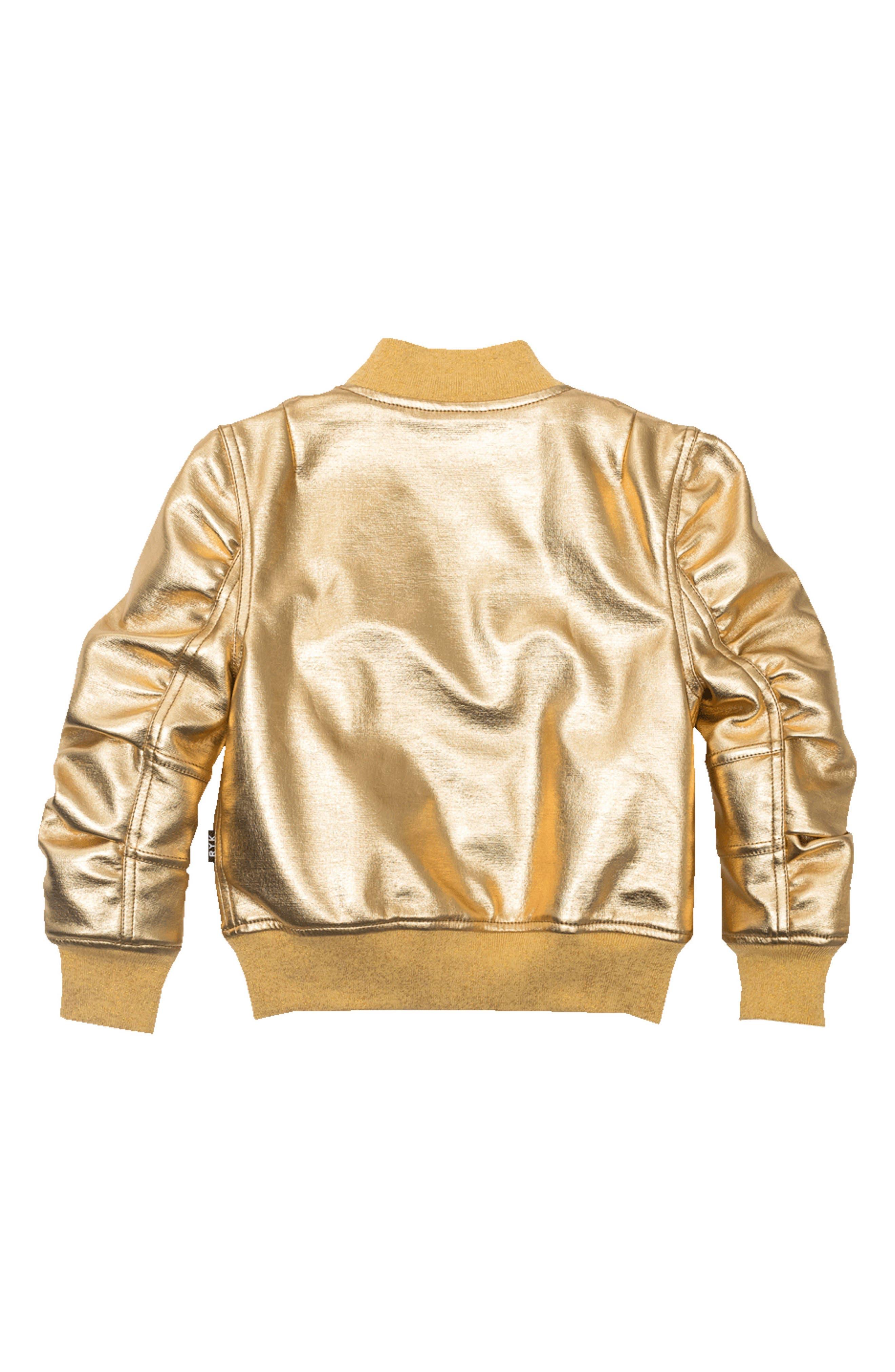 Studio 54 Bomber Jacket,                             Alternate thumbnail 2, color,                             Gold