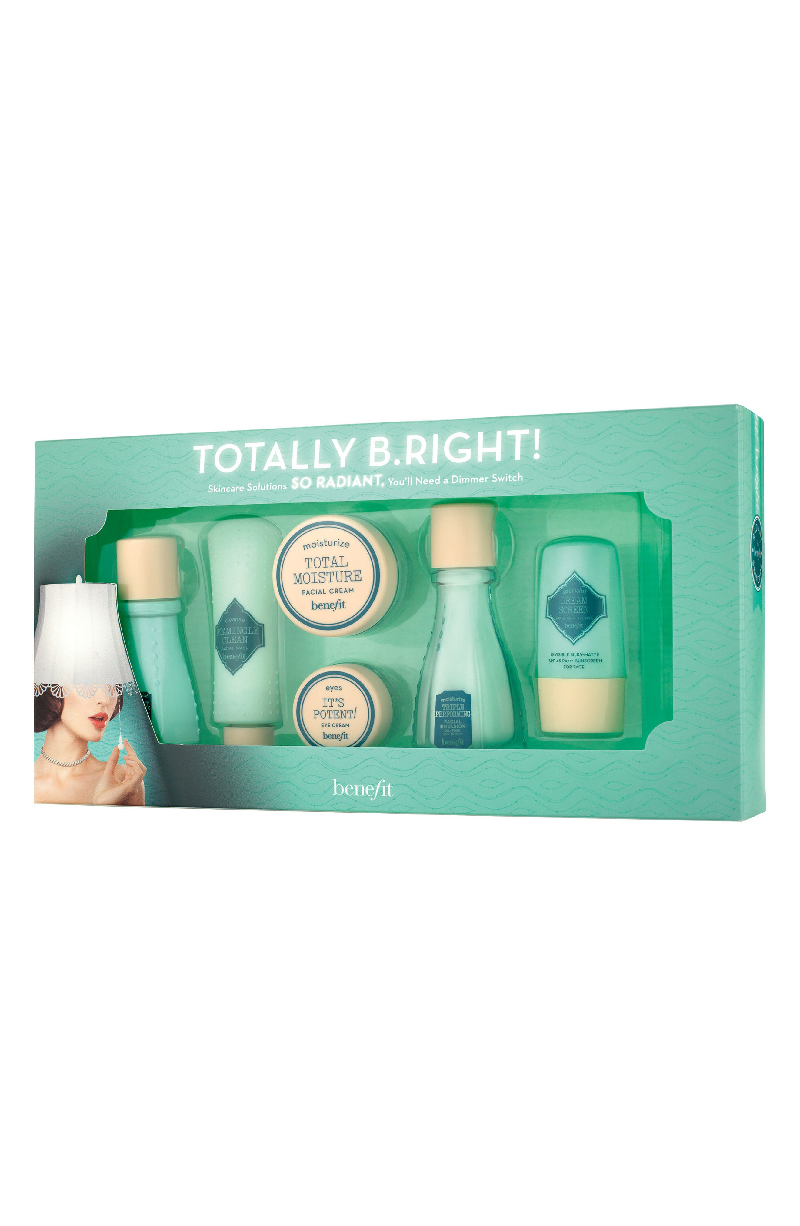 Benefit Totally B.Right! 6-Piece Radiant Skin Care Set,                             Main thumbnail 1, color,                             No Color