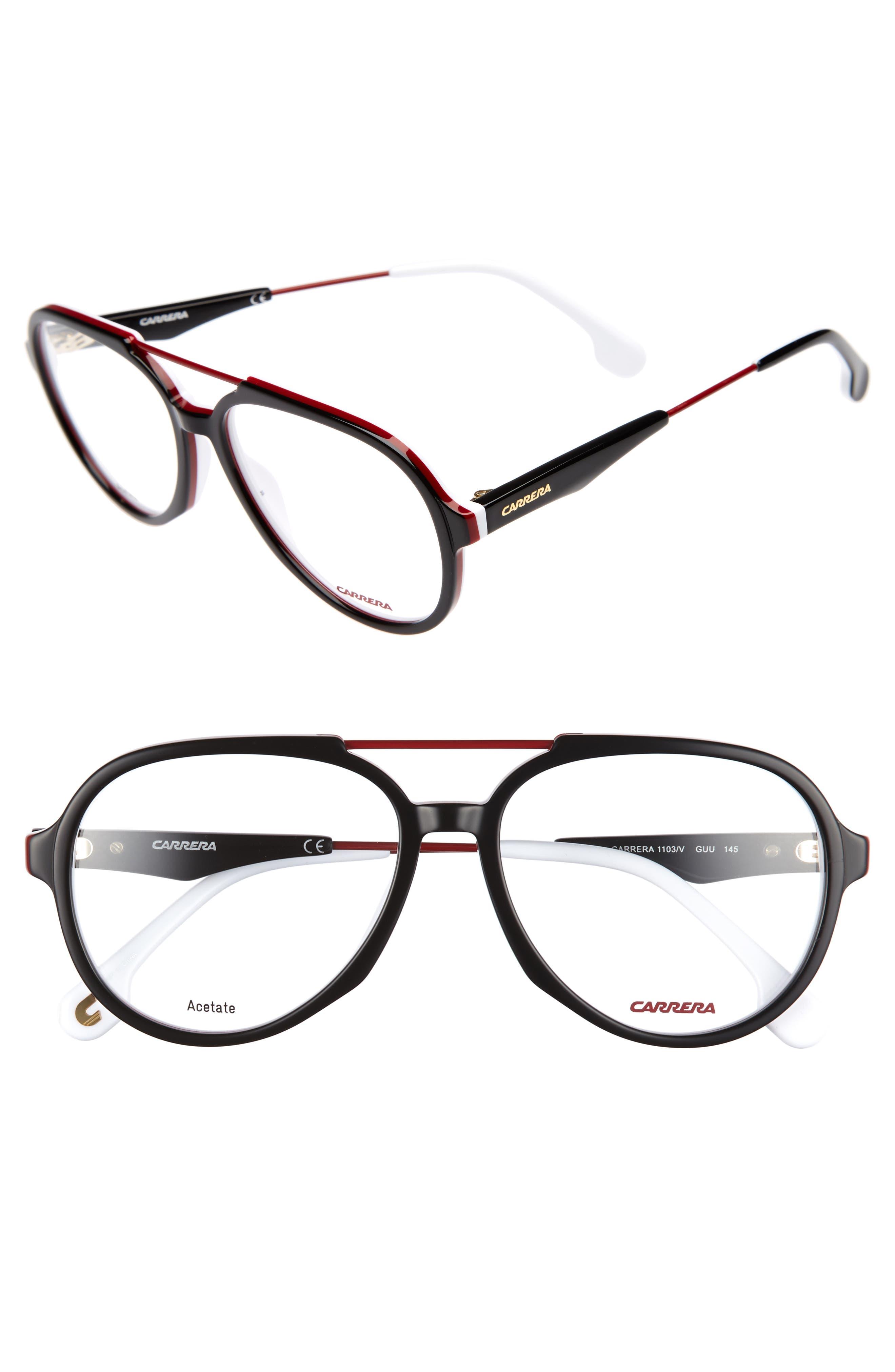 Carrera Eyewear 56mm Aviator Optical Glasses