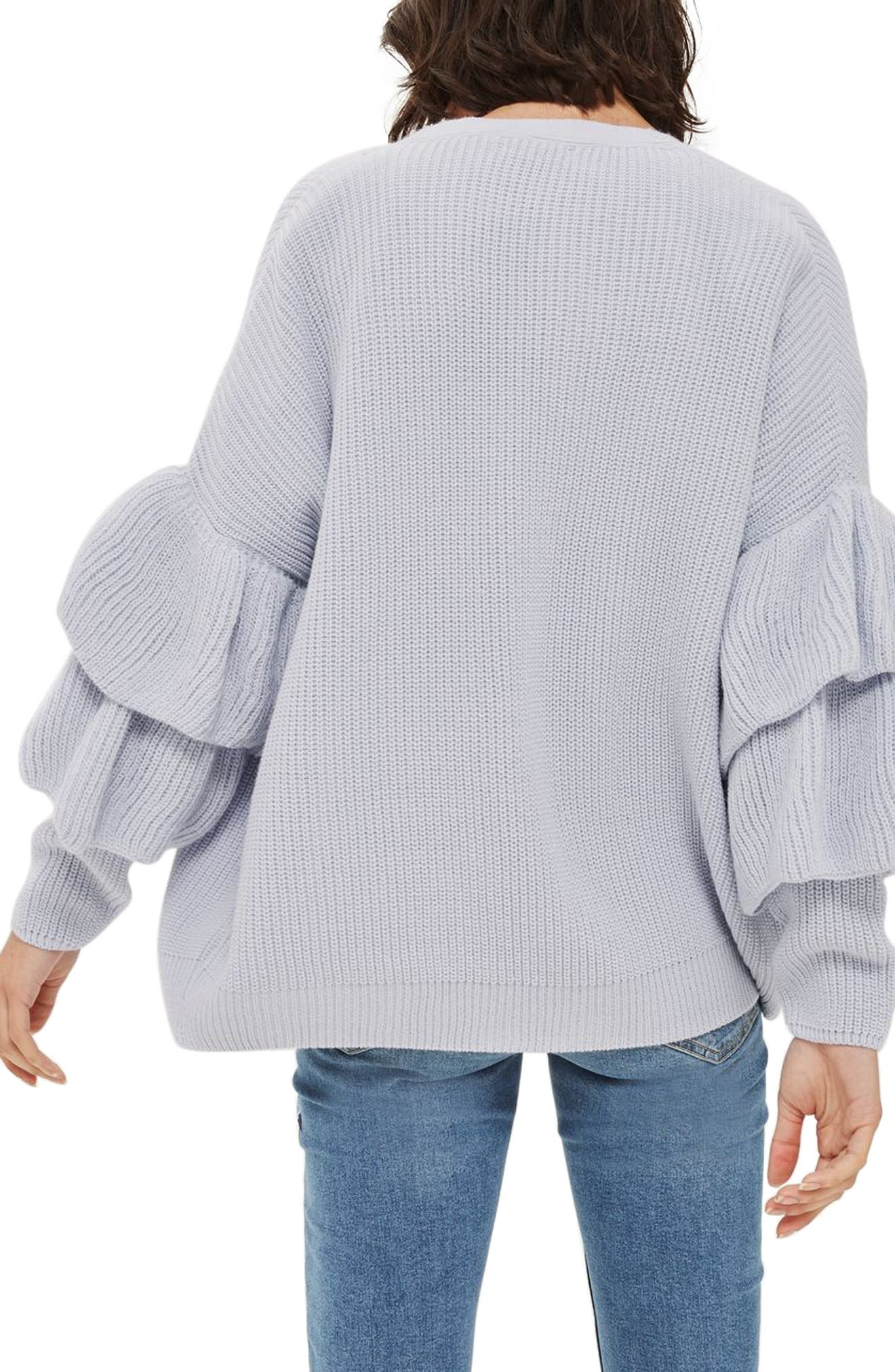 Alternate Image 3  - Topshop Layered Ruffle Sleeve Cardigan
