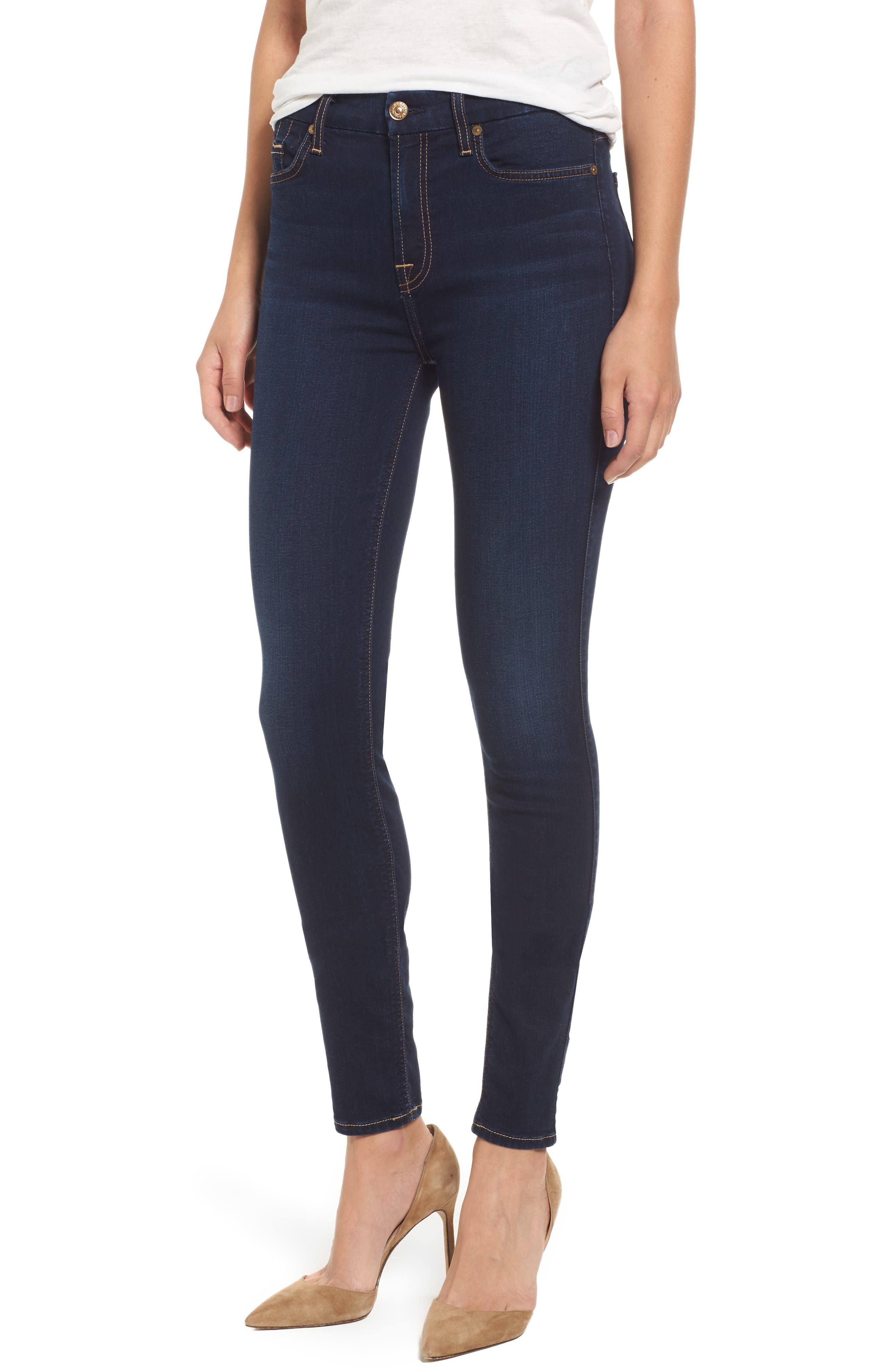 b(air) High Waist Skinny Jeans,                         Main,                         color, B(Air) Tranquil Blue