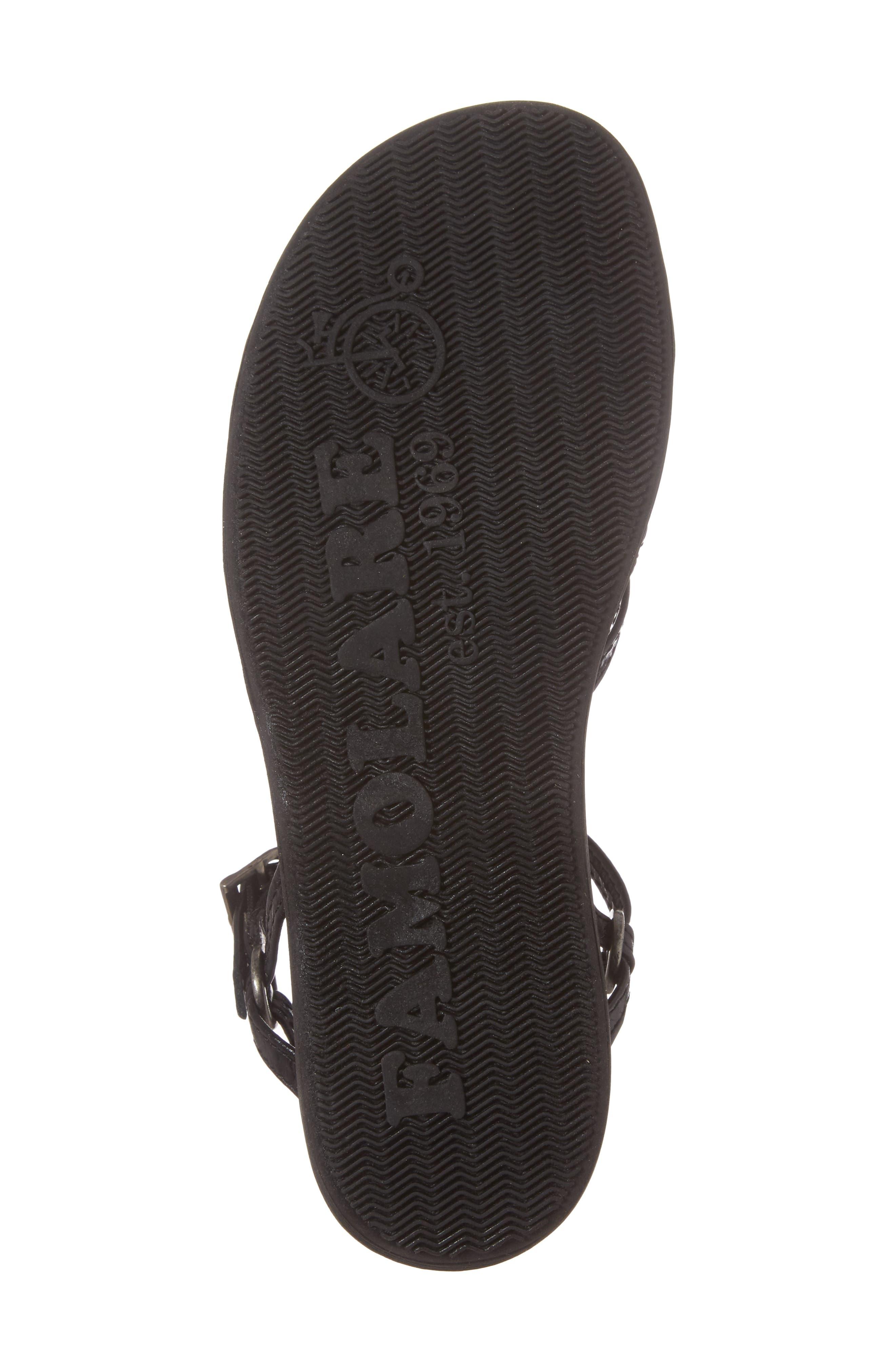 Strapsody Buckle Sandal,                             Alternate thumbnail 6, color,                             Coal Leather
