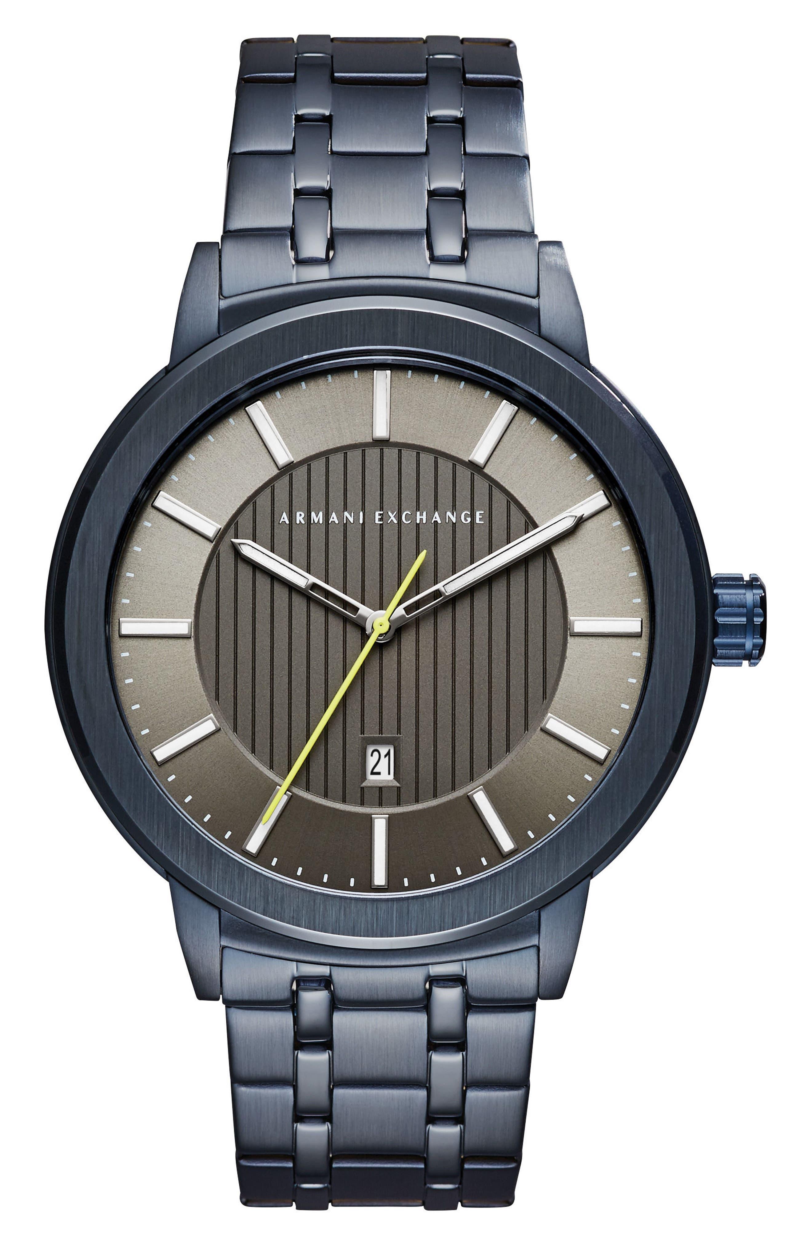 Bracelet Watch, 46mm,                         Main,                         color, Grey/ Coal