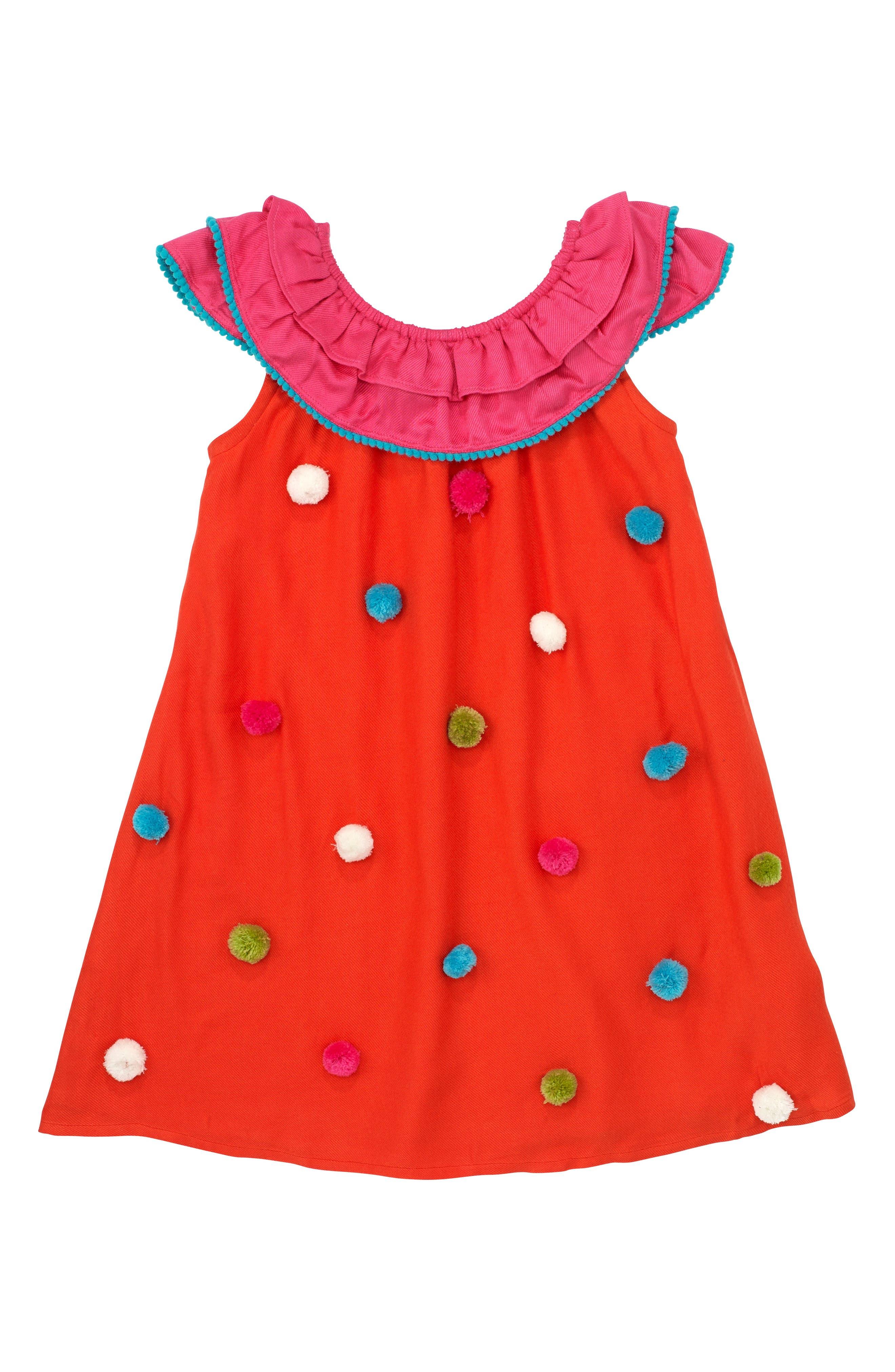 Masalababy Pompom Shift Dress (Toddler Girls, Little Girls & Big Girls)