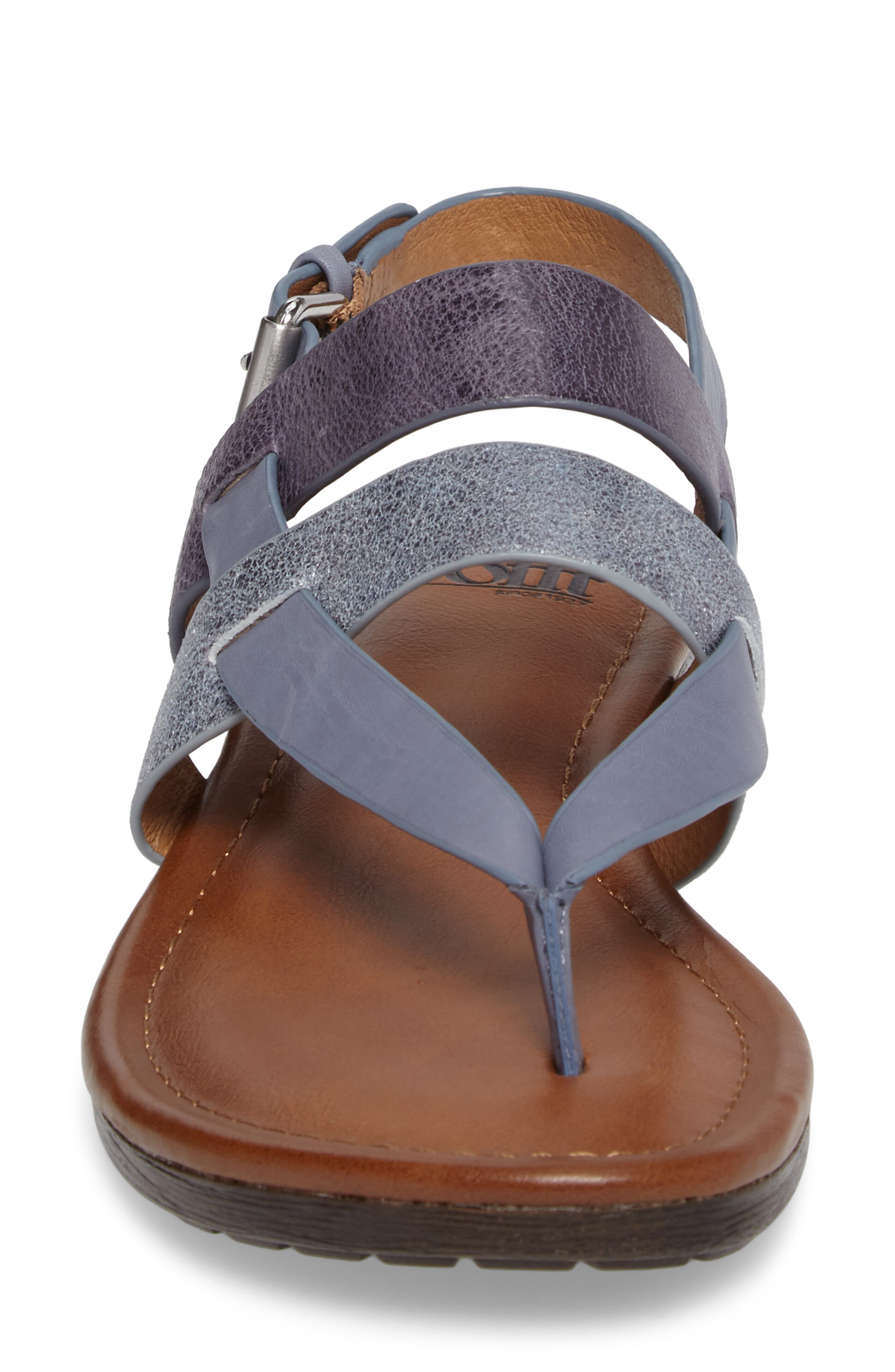 Bena Strappy Sandal,                             Alternate thumbnail 4, color,                             Denim/ Blue/ Pale Blue Leather