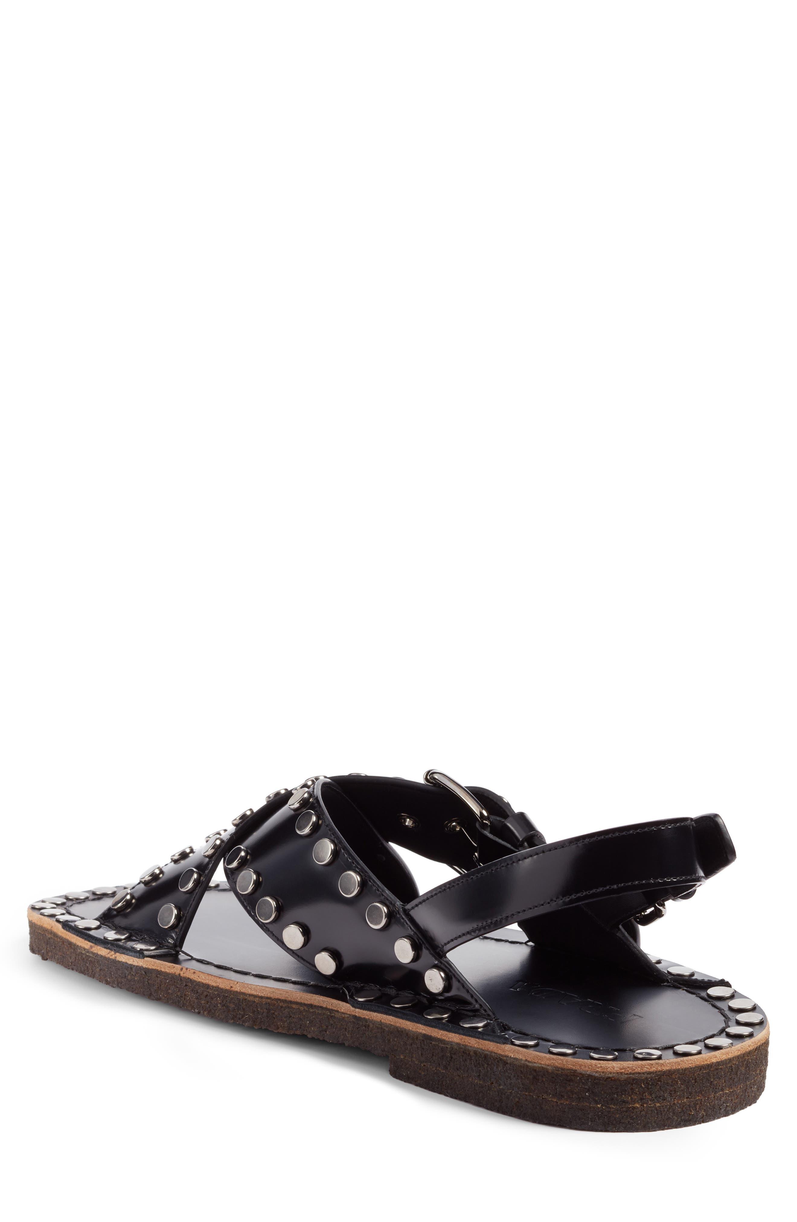 Crisscross Sandal,                             Alternate thumbnail 2, color,                             Nero Leather