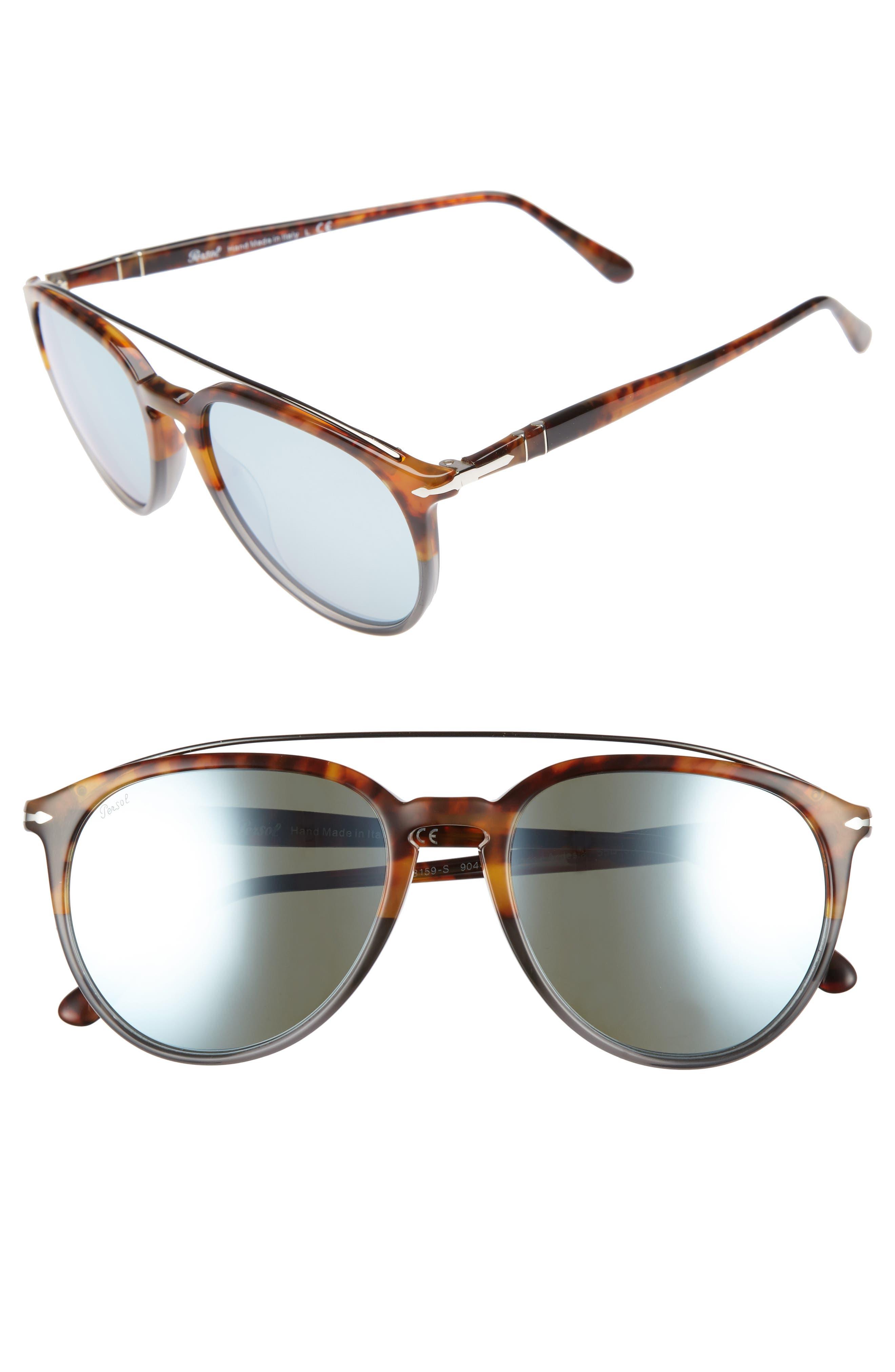 Sartoria 55mm Polarized Sunglasses,                         Main,                         color, Fuoco E Ardesia/ Green Mirror