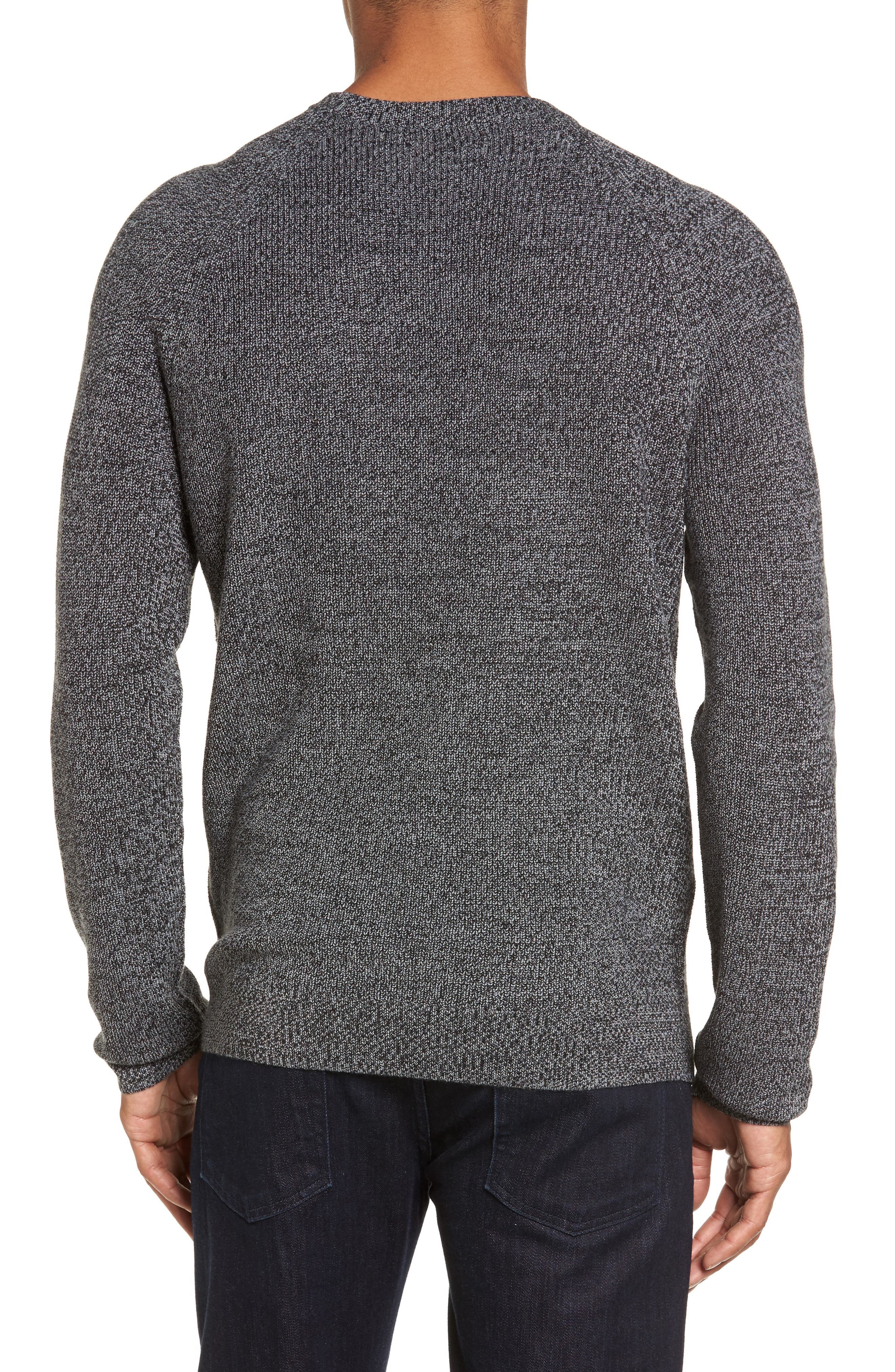Alternate Image 2  - Nordstrom Men's Shop Textured Merino Wool Blend Sweater