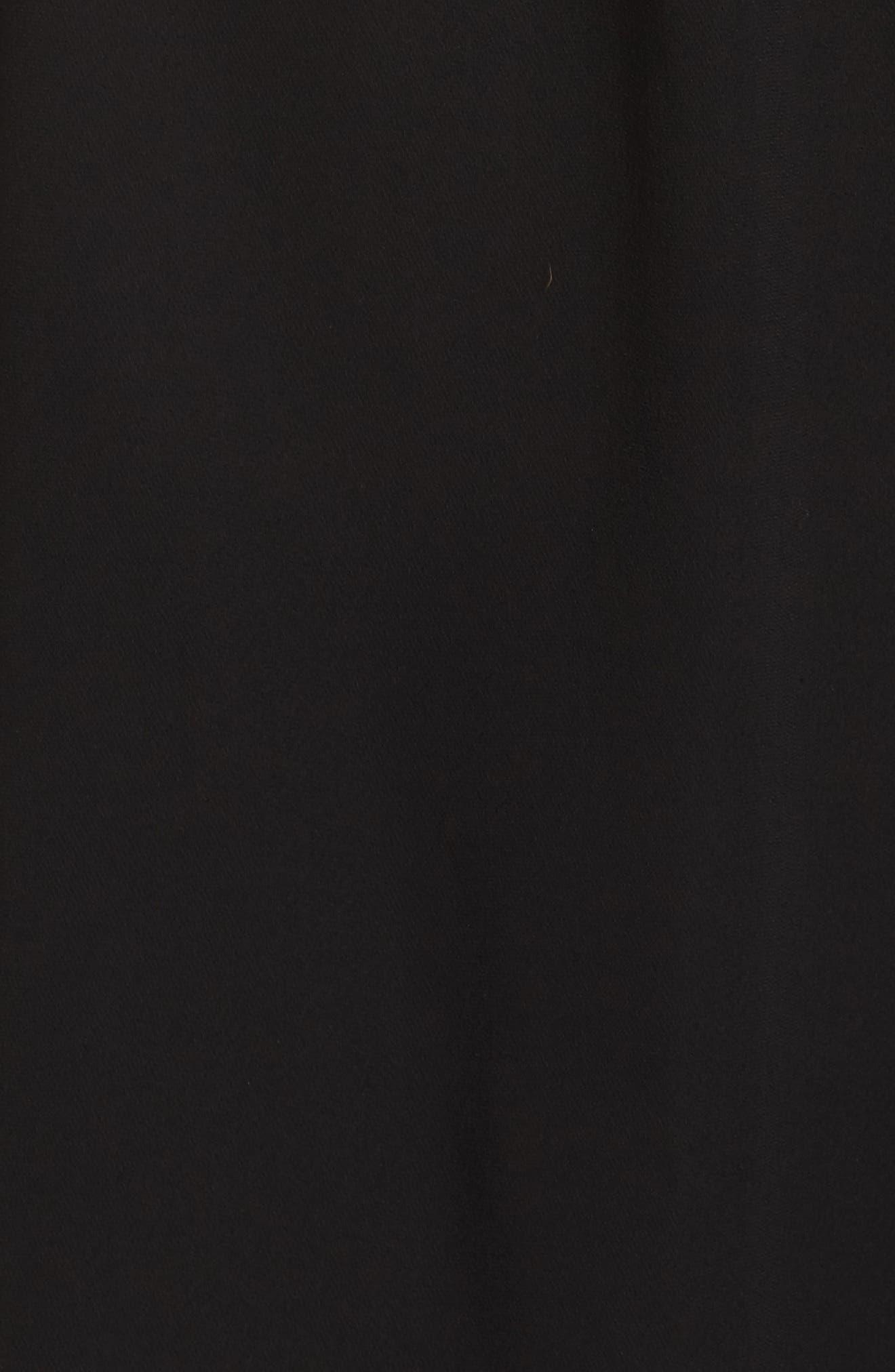 Evening Dew One-Shoulder Dress,                             Alternate thumbnail 5, color,                             Black