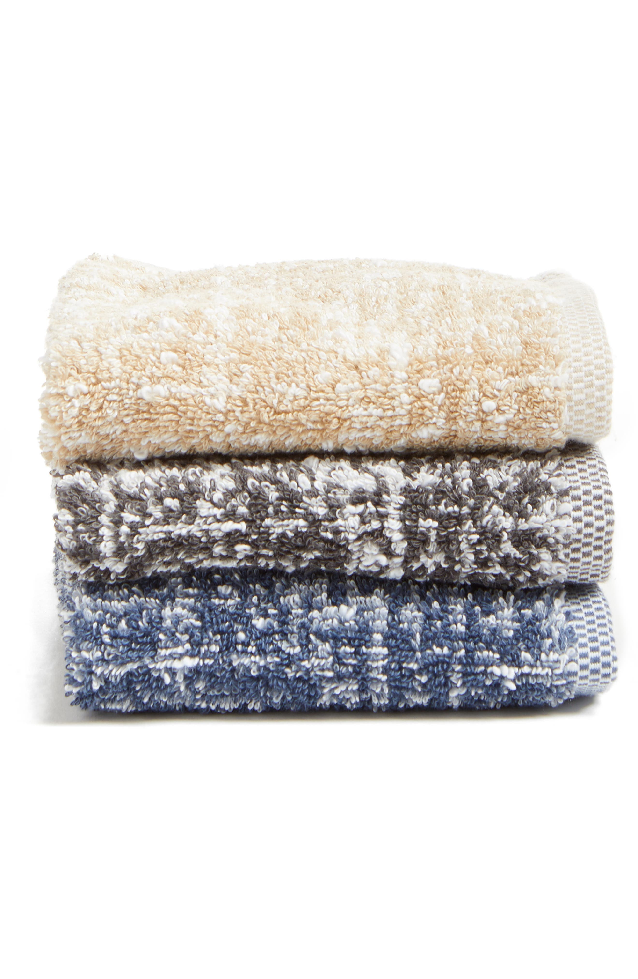 Alternate Image 2  - Nordstrom at Home Tweed Jacquard Hand Towel