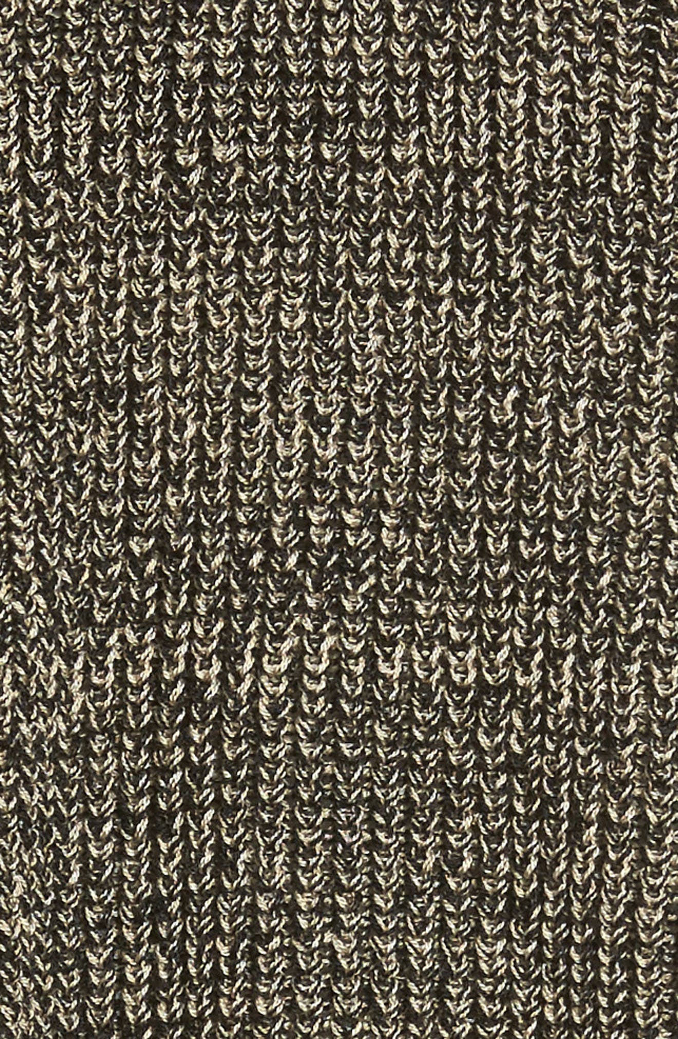 Mélange Knit Tencel<sup>®</sup> Crop Sweater,                             Alternate thumbnail 5, color,                             Black Natural