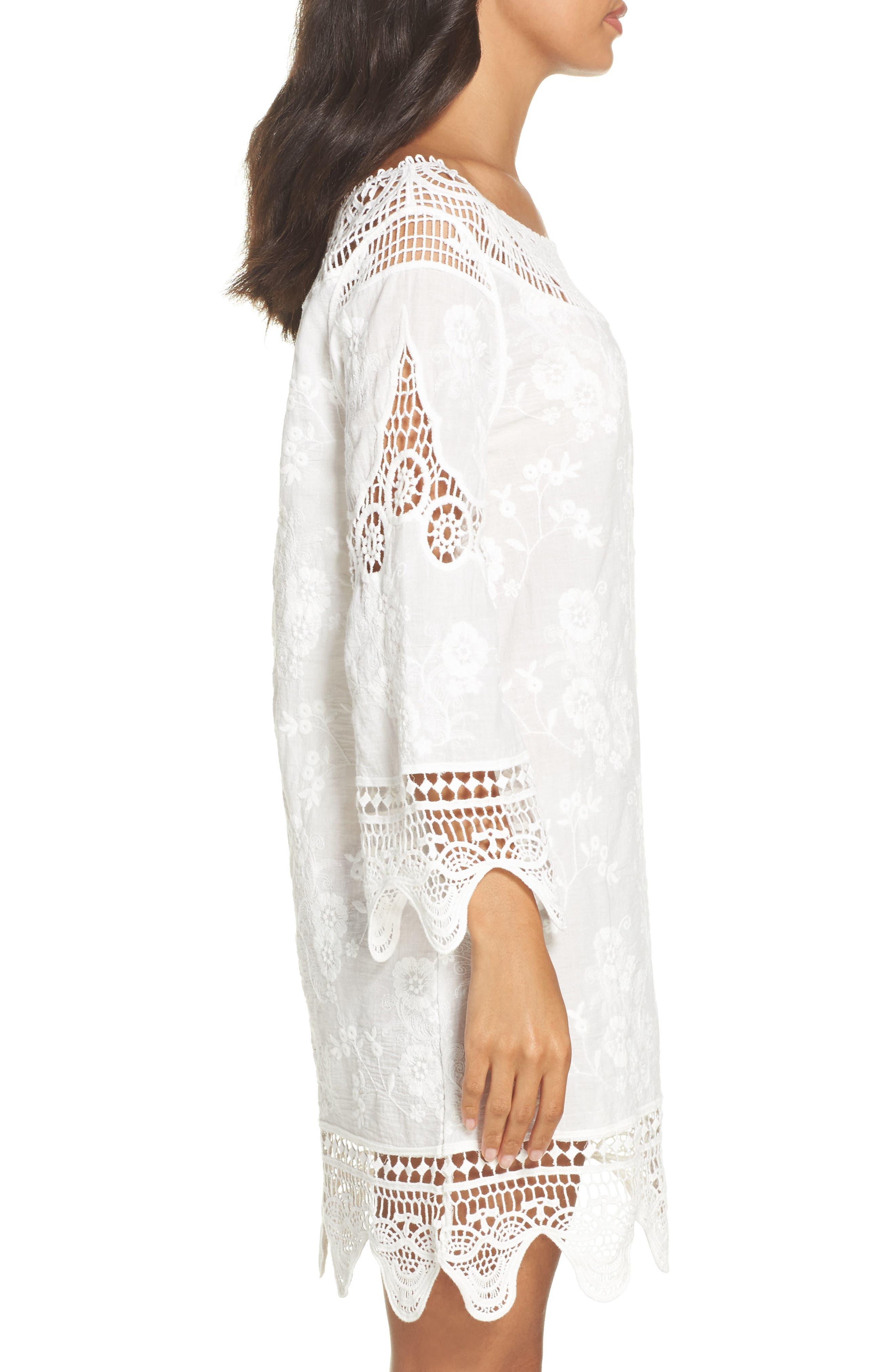 Zen Garden Cover-Up Dress,                             Alternate thumbnail 3, color,                             White