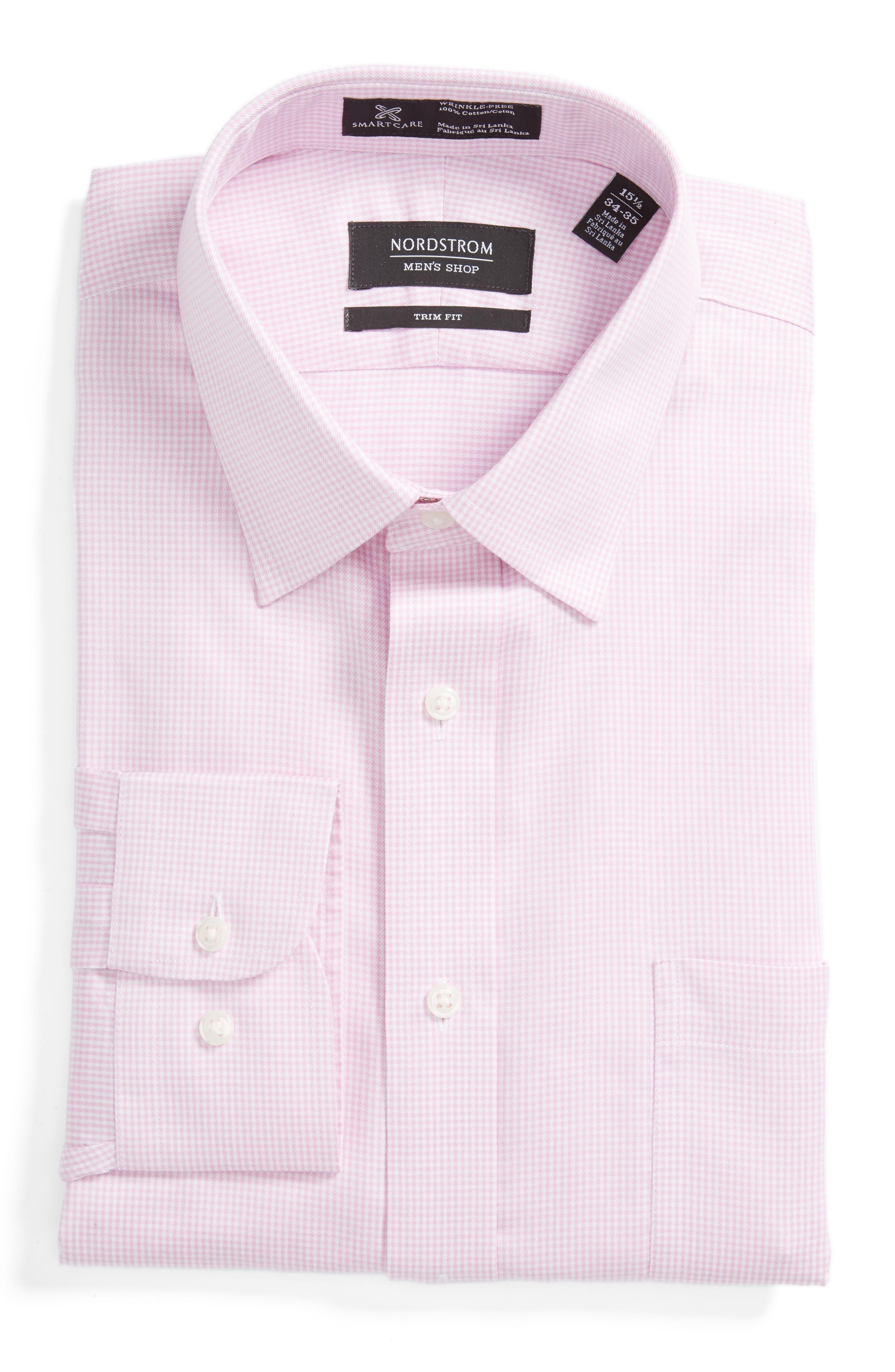 NORDSTROM MENS SHOP Smartcare<sup>™</sup> Trim Fit Stripe Dress Shirt
