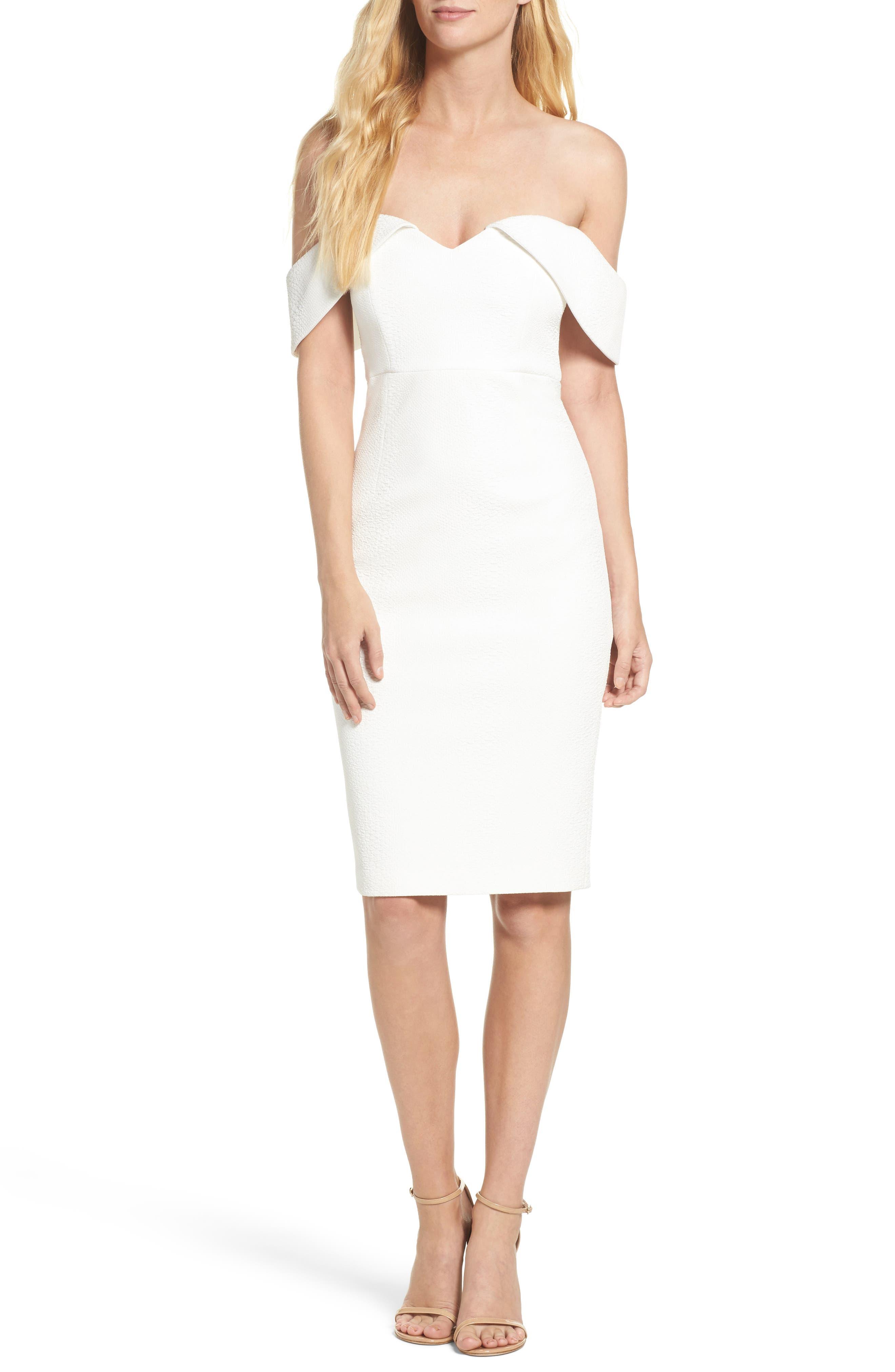 Bardot Eva Off the Shoulder Body-Con Dress