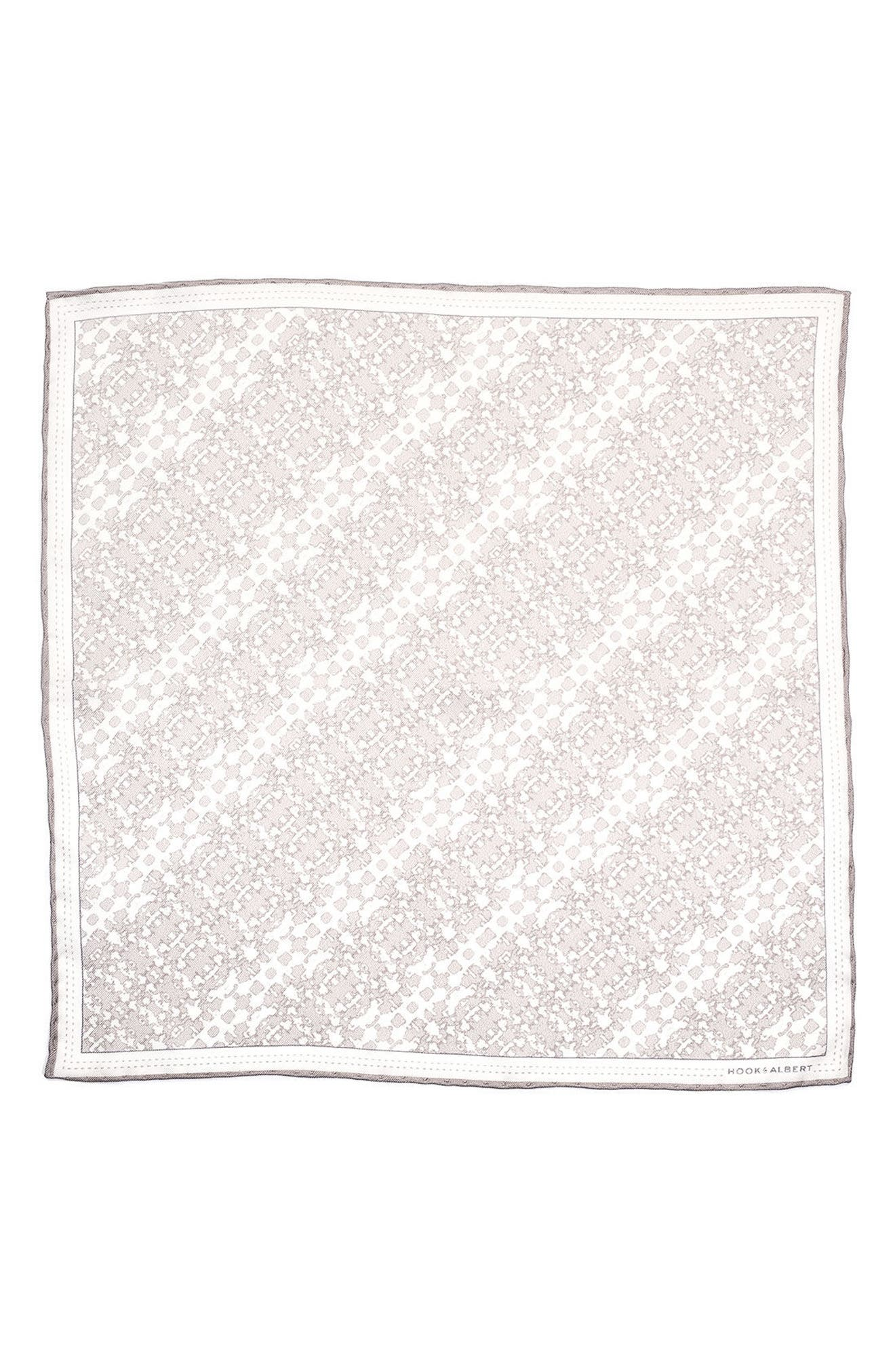 Alternate Image 2  - hook + ALBERT Batik Patterned Silk Pocket Square