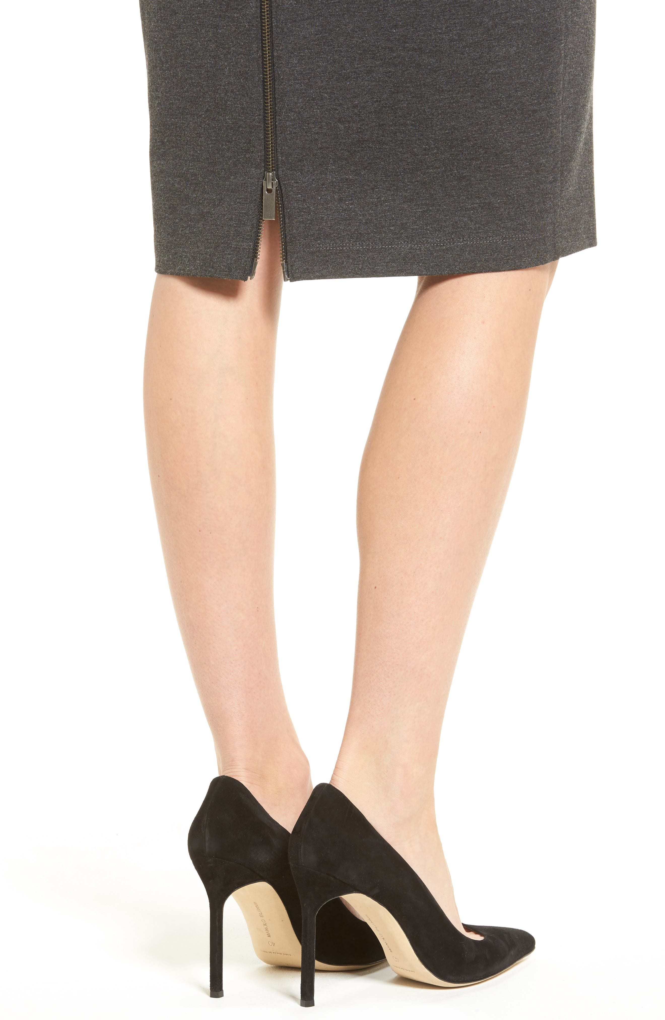 Alternate Image 4  - Halogen® Ponte Pencil Skirt (Regular & Petite)