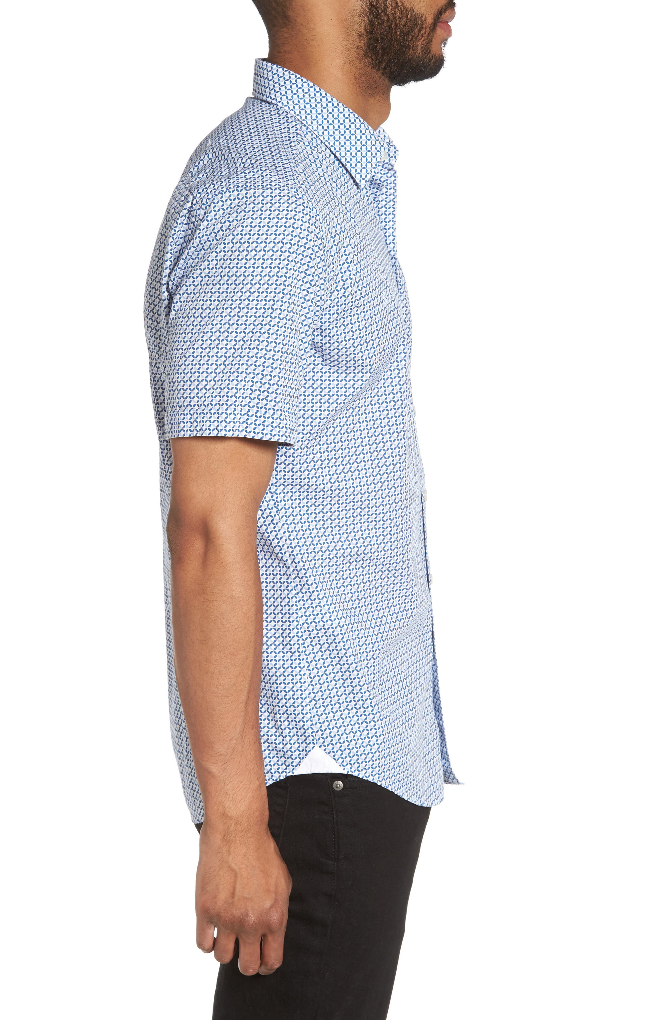 Alternate Image 3  - BOSS Robbie Trim Fit Print Sport Shirt