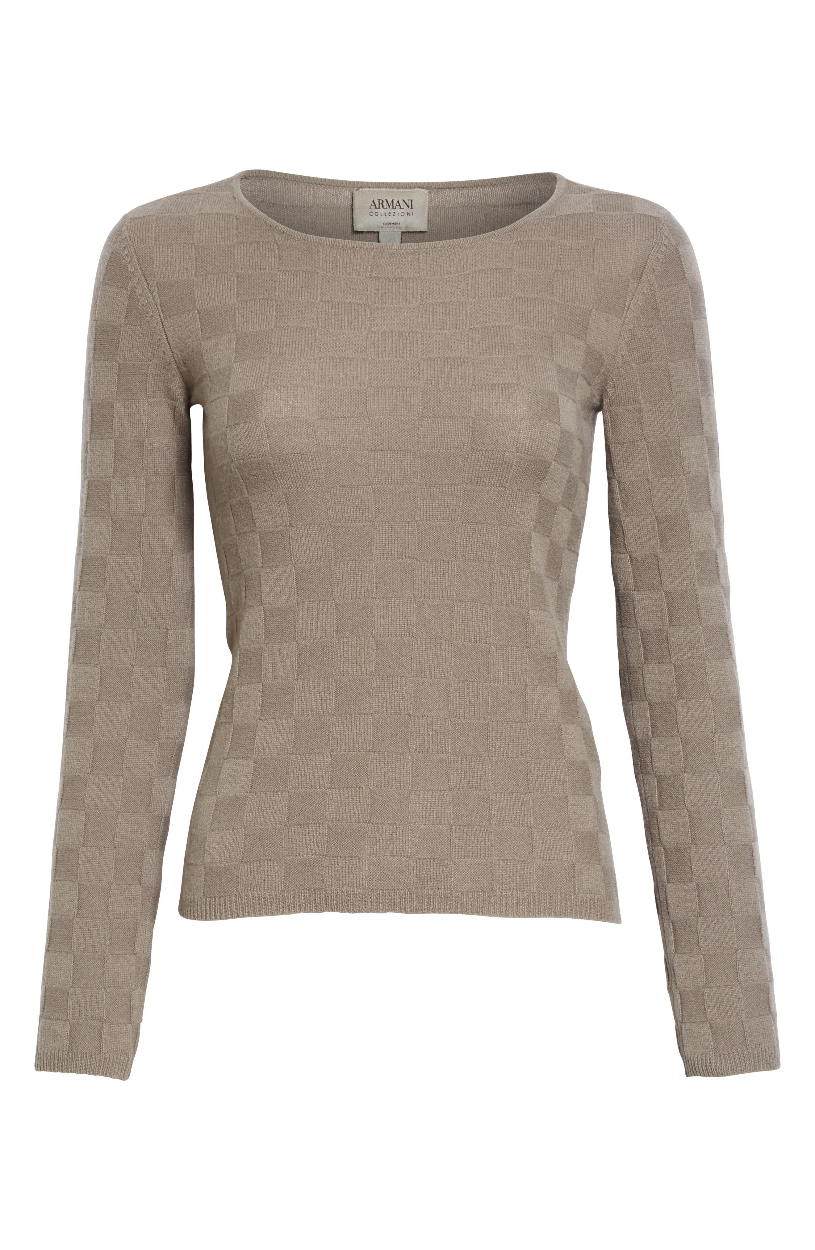 Alternate Image 4  - Armani Collezioni Checkerboard Cashmere Sweater