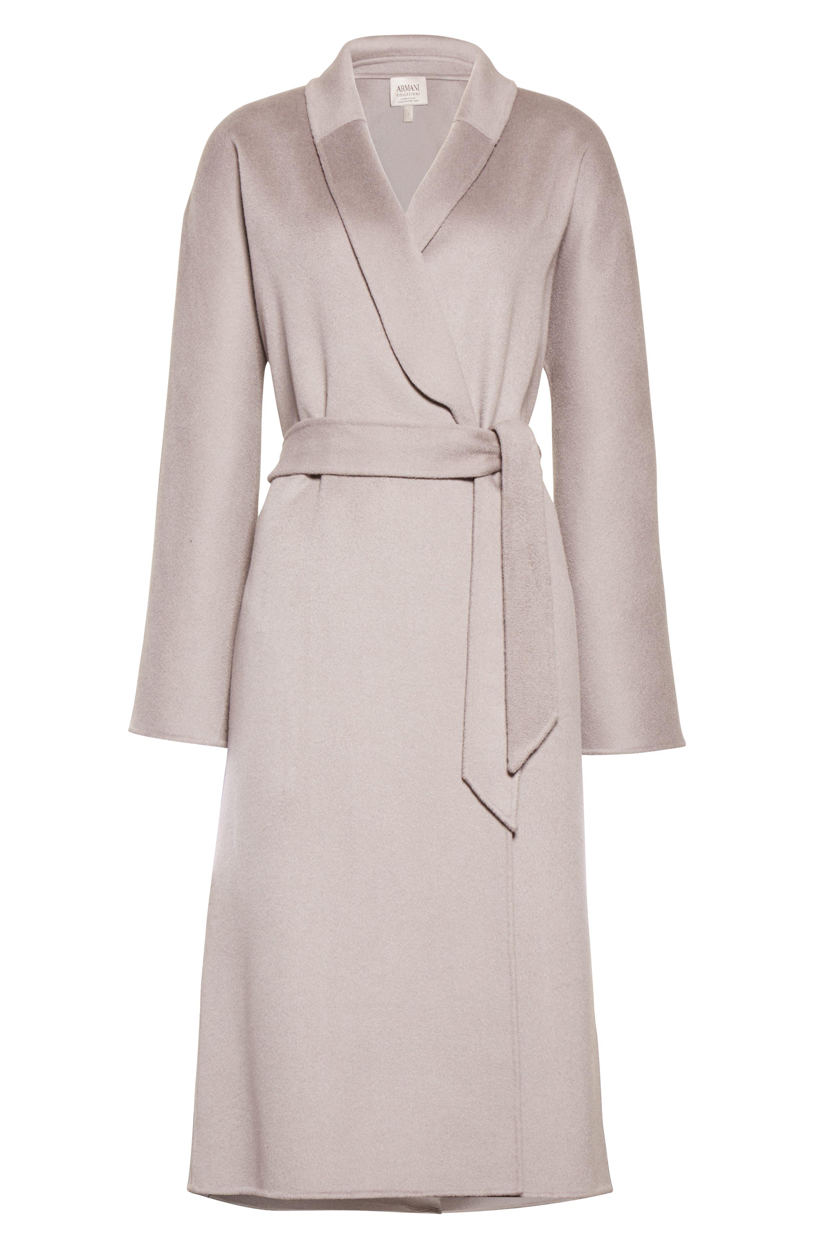 Alternate Image 6  - Armani Collezioni Double Face Cashmere Wrap Coat