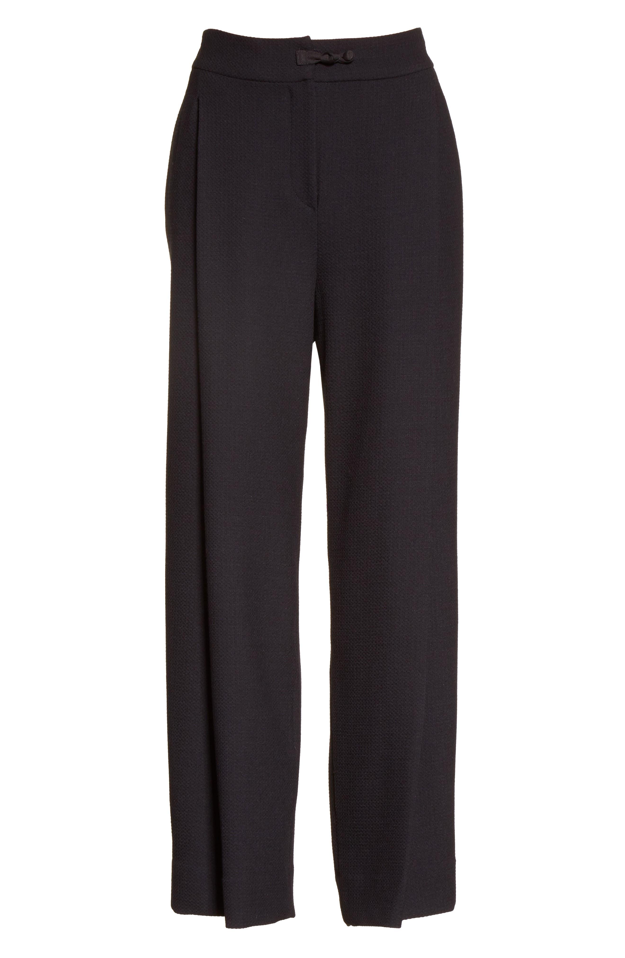 Alternate Image 6  - Armani Collezioni Stretch Wool Wide Leg Pants