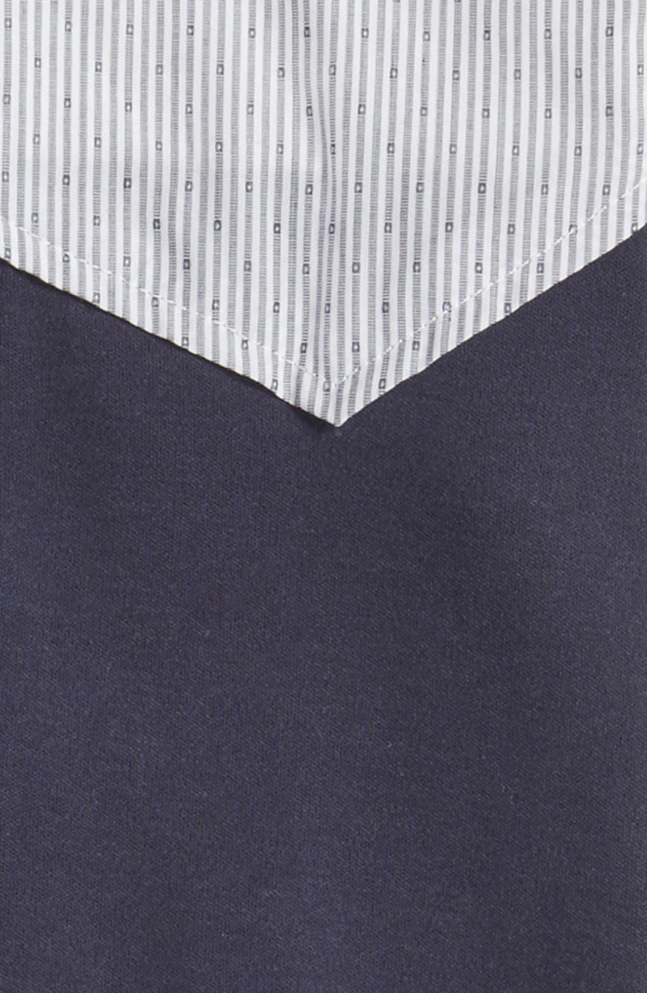 Alternate Image 2  - Armani Junior Vest Romper (Baby Boys)