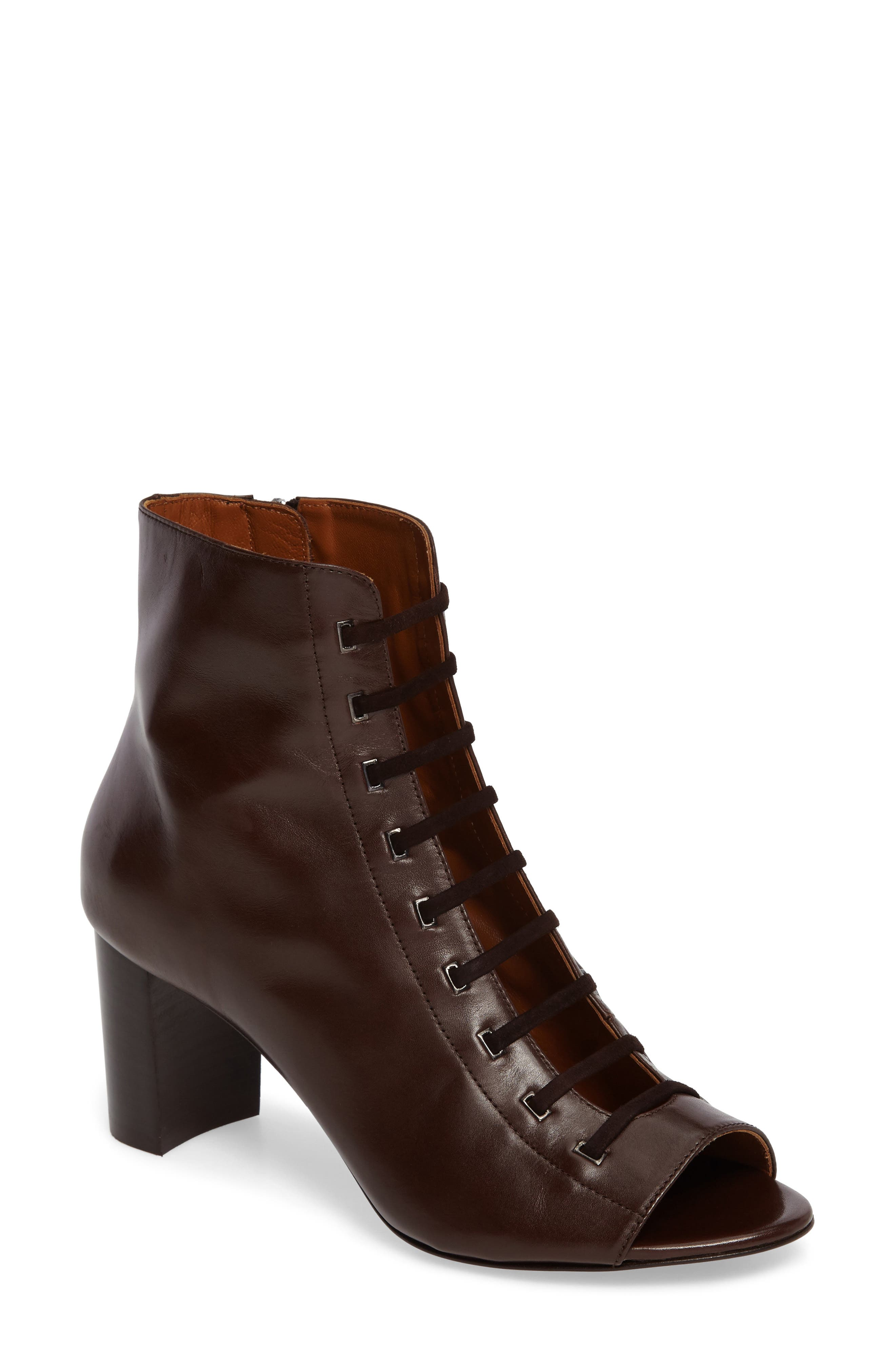 Main Image - Aquatalia Stefania Weatherproof Open Toe Bootie (Women)
