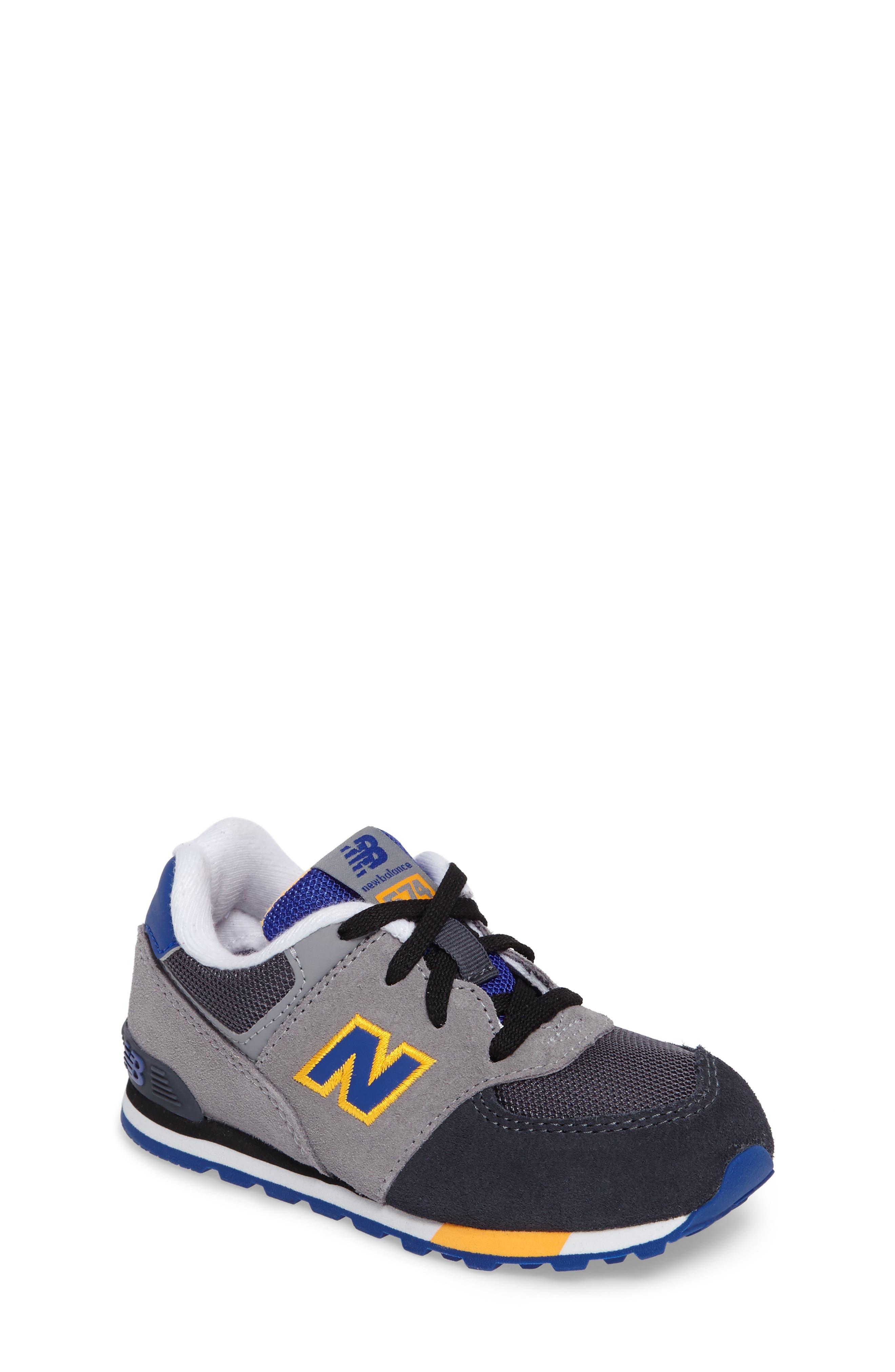 574 Cut & Paste Sneaker,                             Main thumbnail 1, color,                             Grey/ Blue