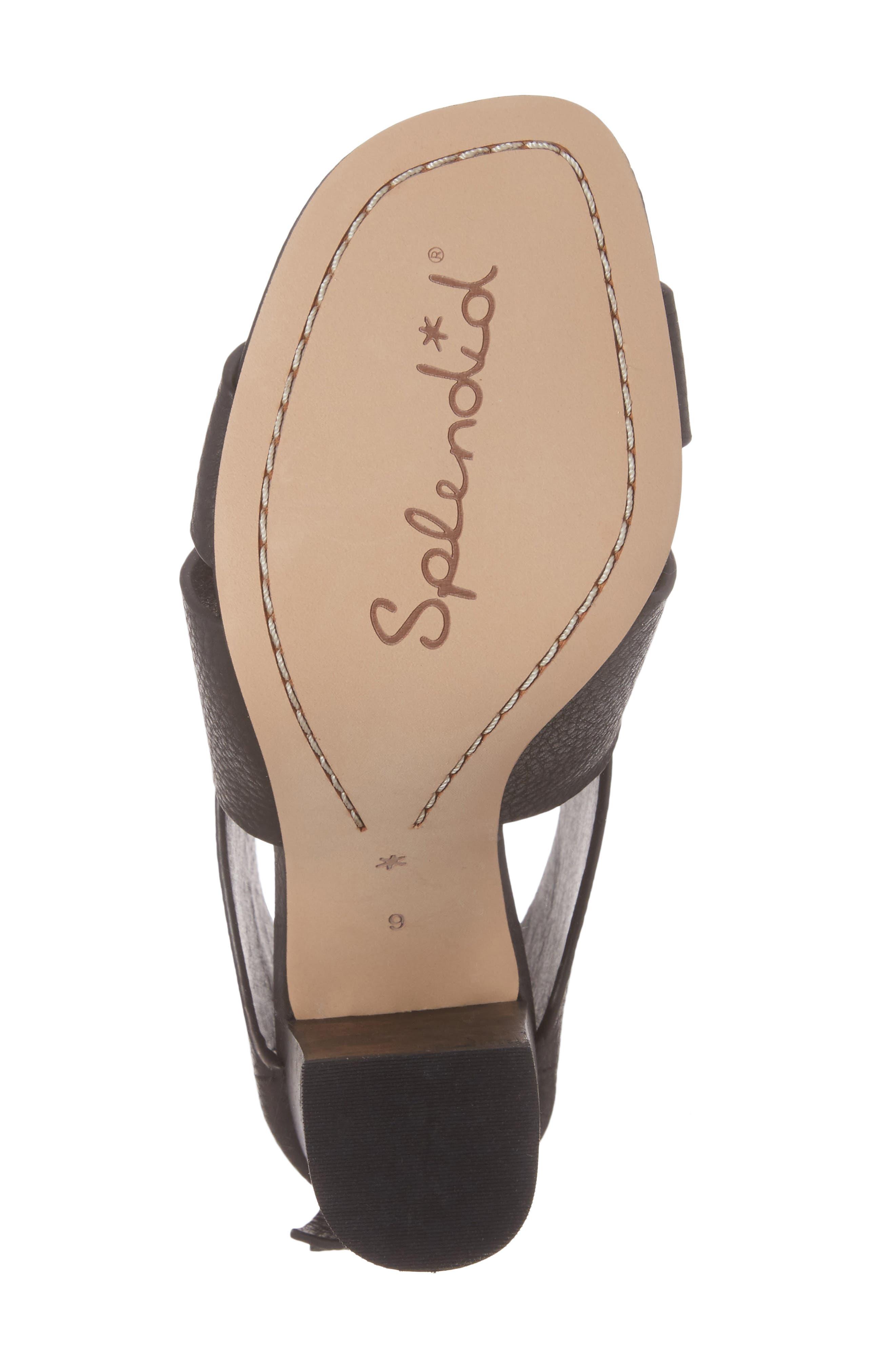 Danett Cross Strap Sandal,                             Alternate thumbnail 6, color,                             Black Leather