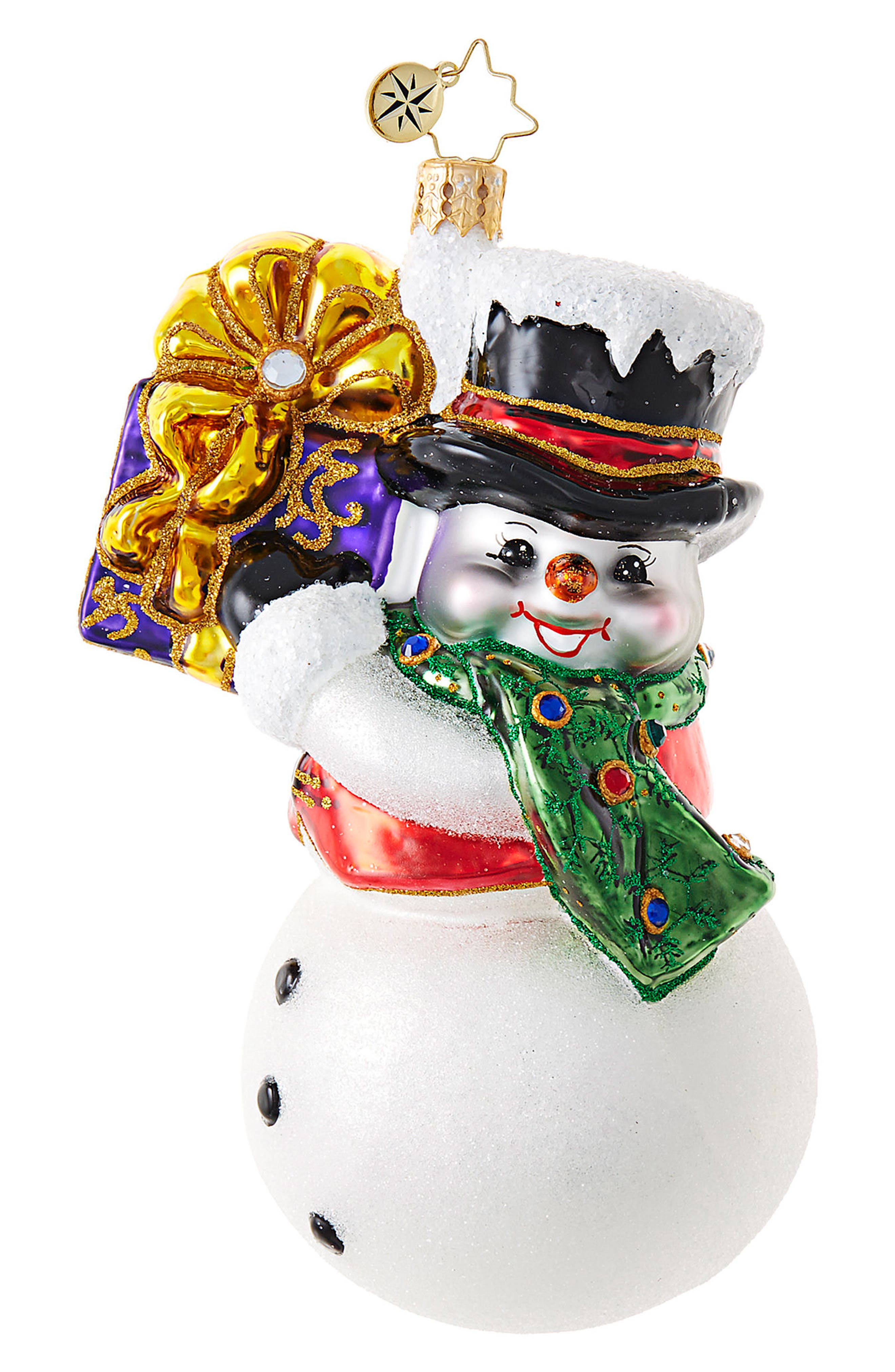 Main Image - Christopher Radko Shaking Things Up Snowman Ornament