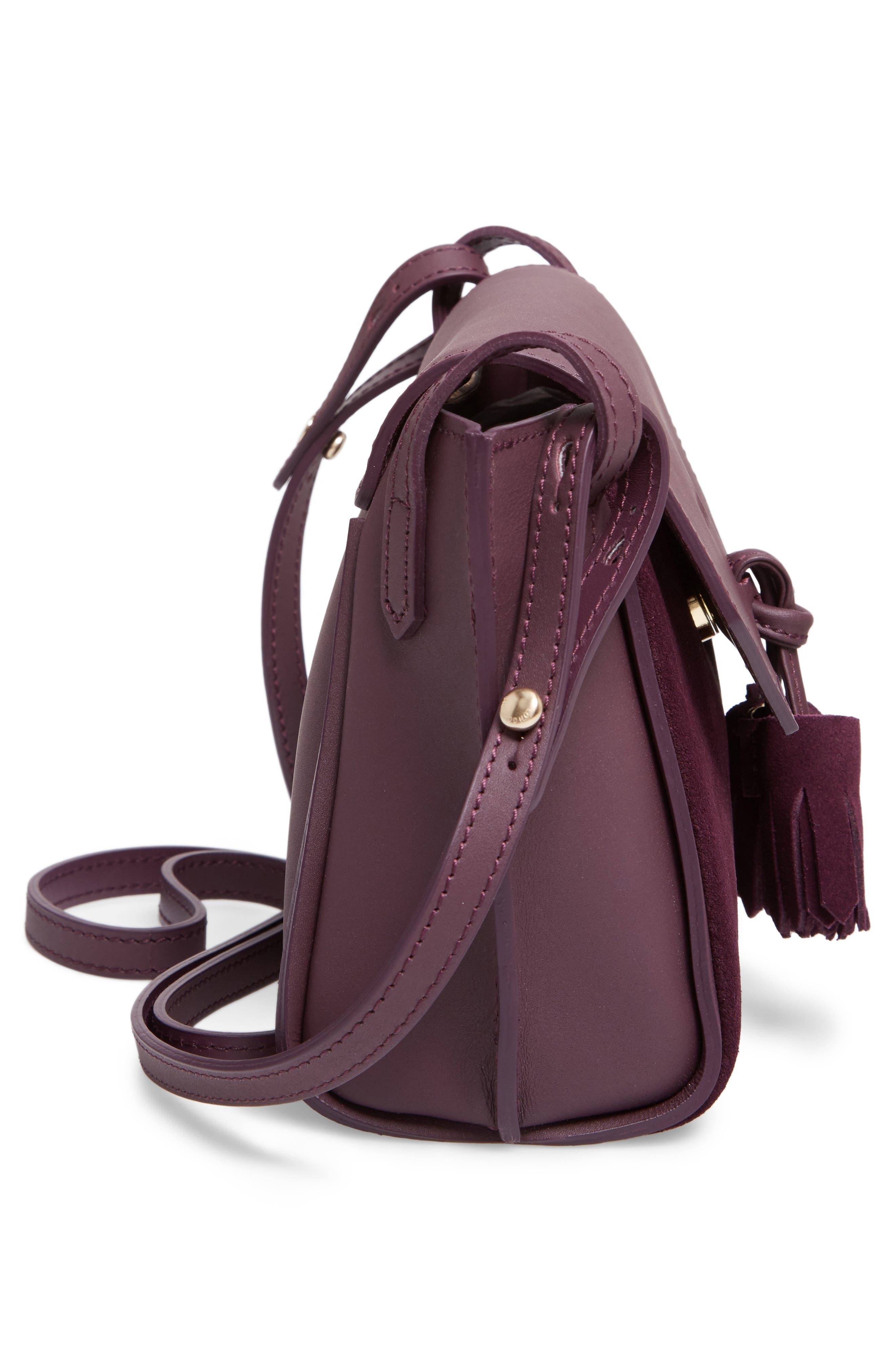 Alternate Image 5  - Longchamp Small Penelope Leather Crossbody Bag