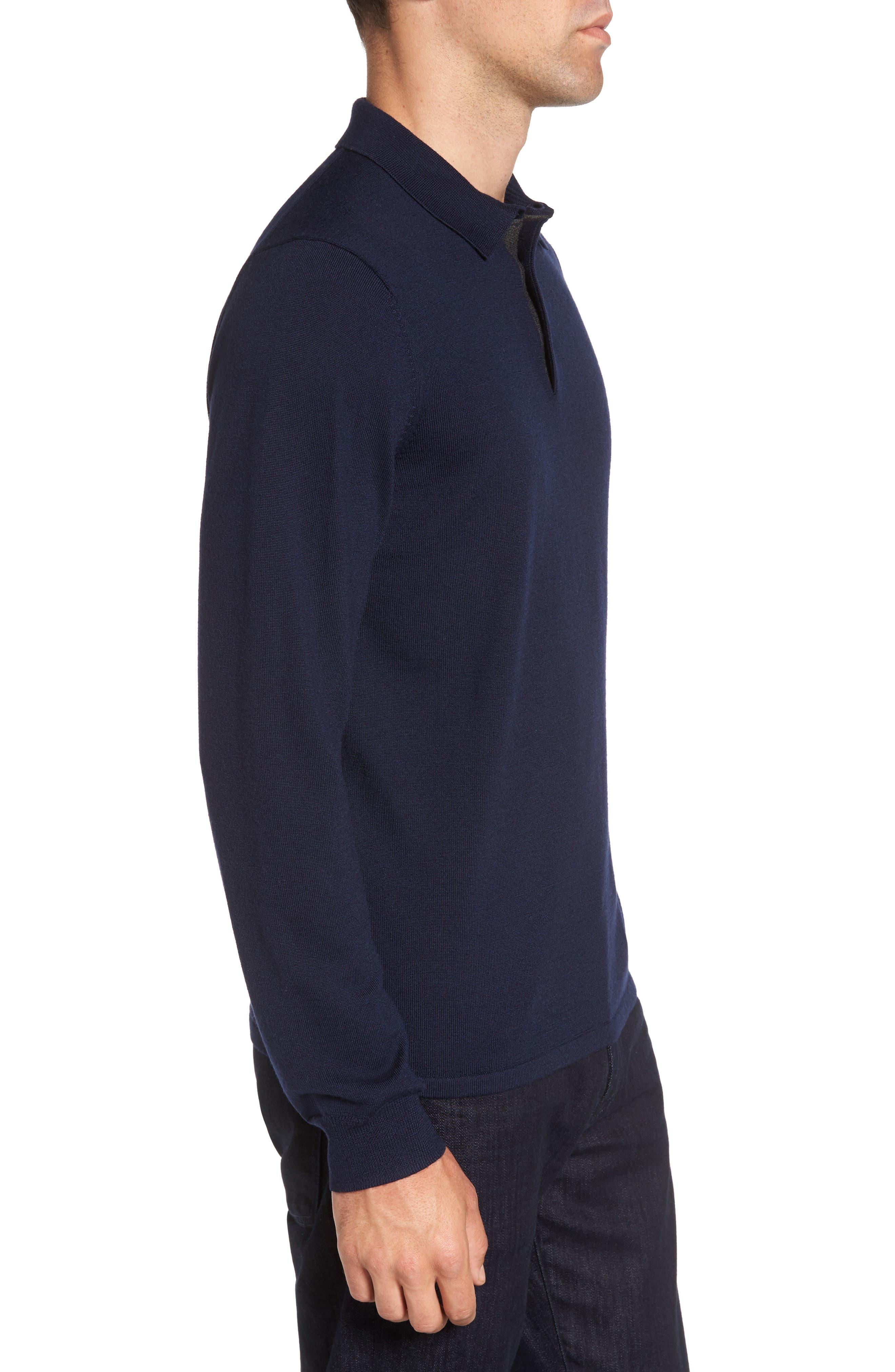Alternate Image 3  - Nordstrom Men's Shop Merino Wool Polo Sweater